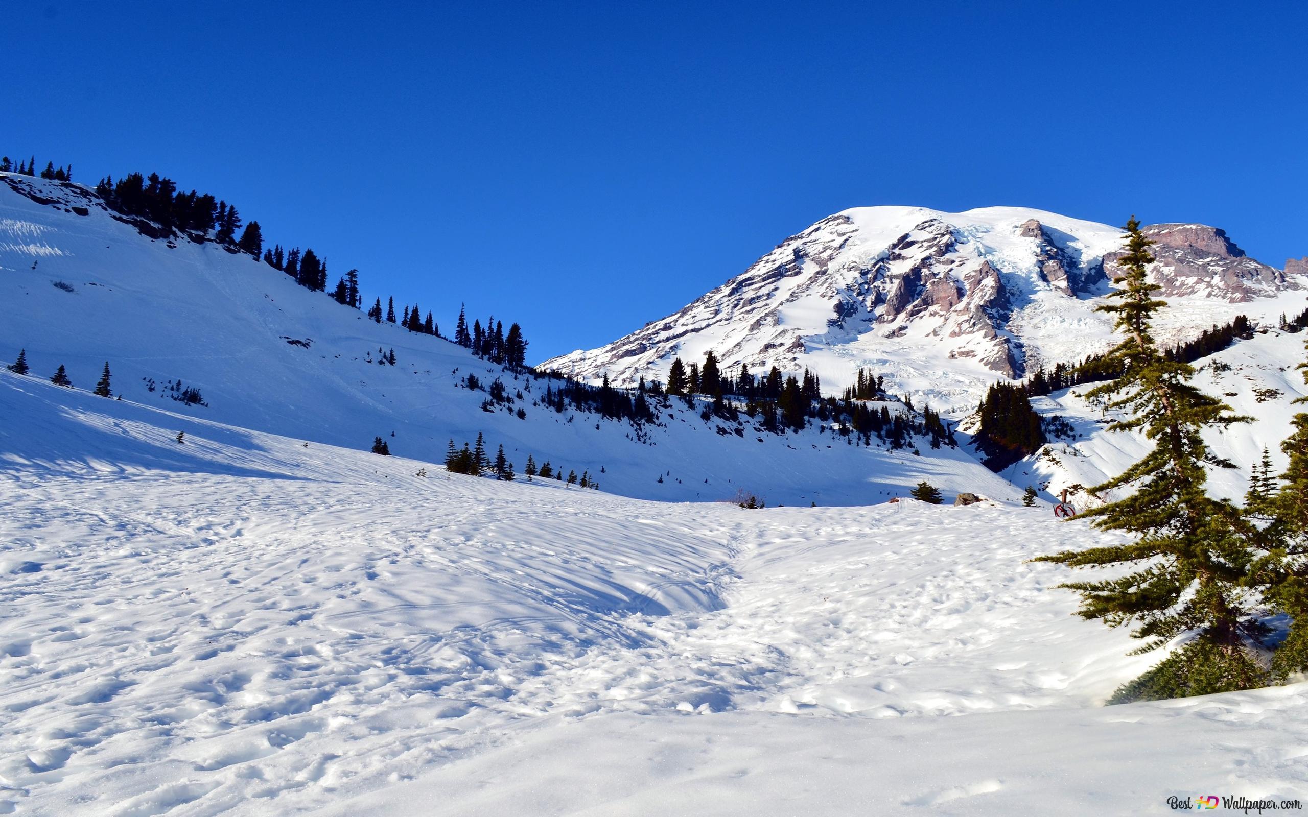 Montagna Della Neve Download Di Sfondi Hd