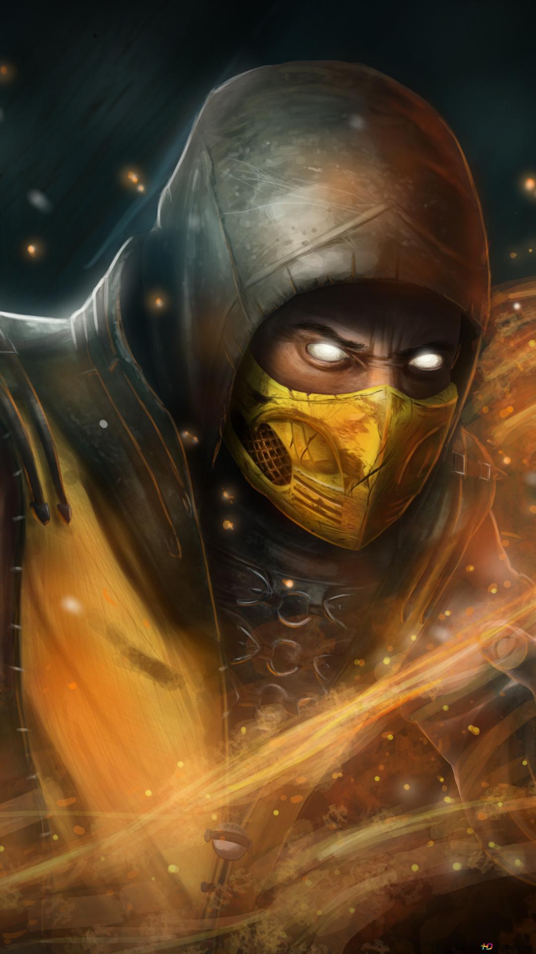 Mortal Kombat 11 2019 Scorpion Digital Art Hd Wallpaper Download