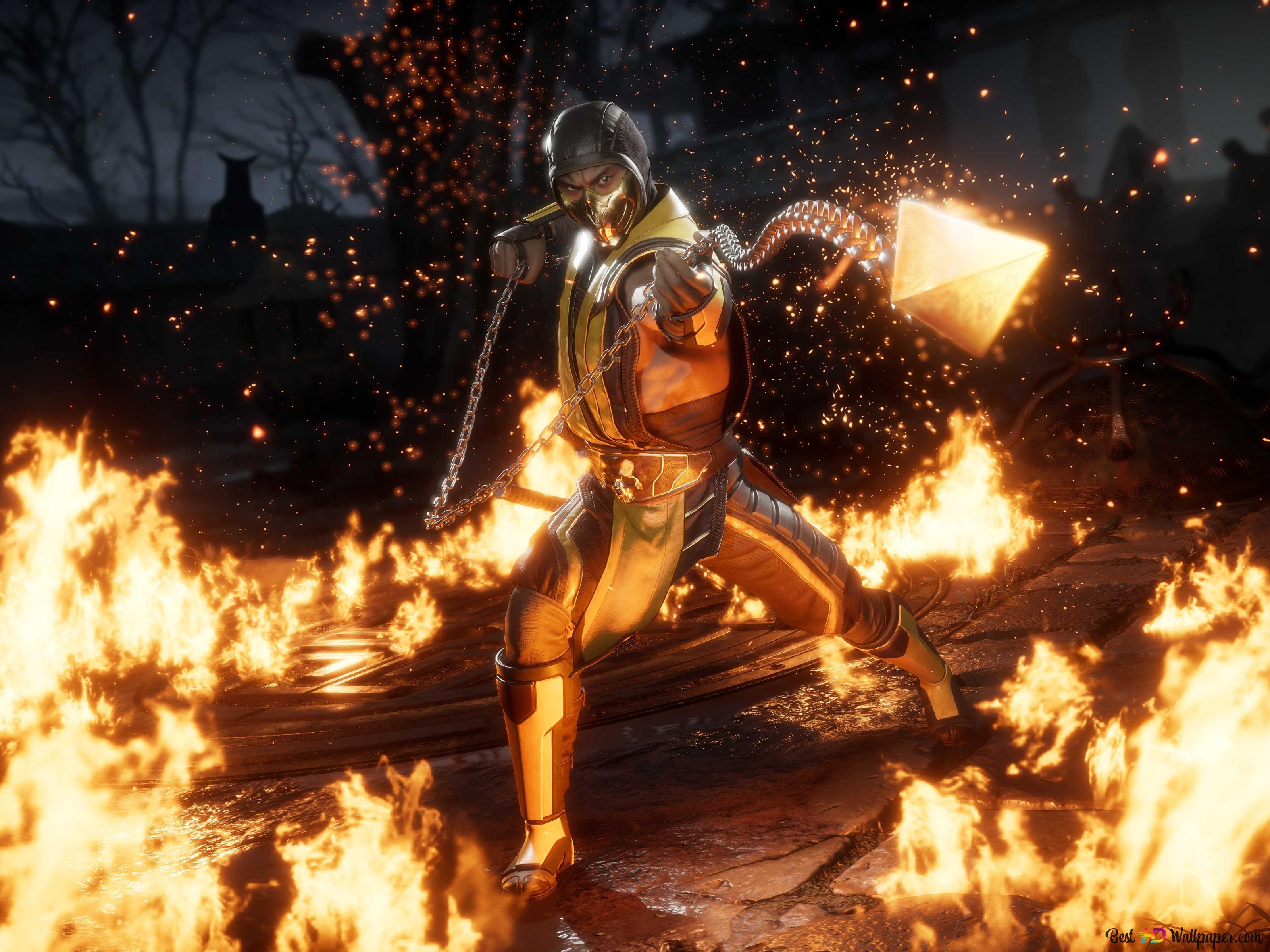 Mortal Kombat 11 2019 Scorpion Hd Hintergrundbilder