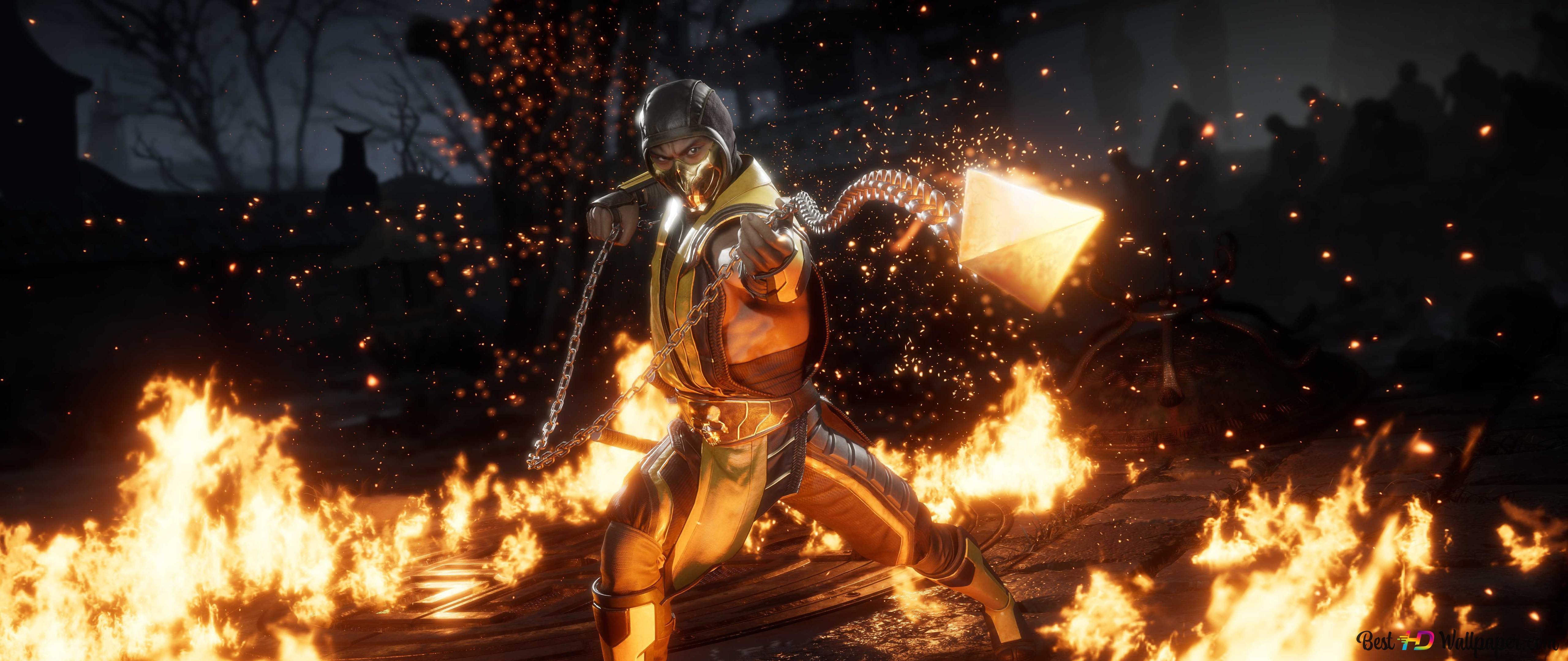 Mortal Kombat 11 2019 Scorpion Hd Wallpaper Download