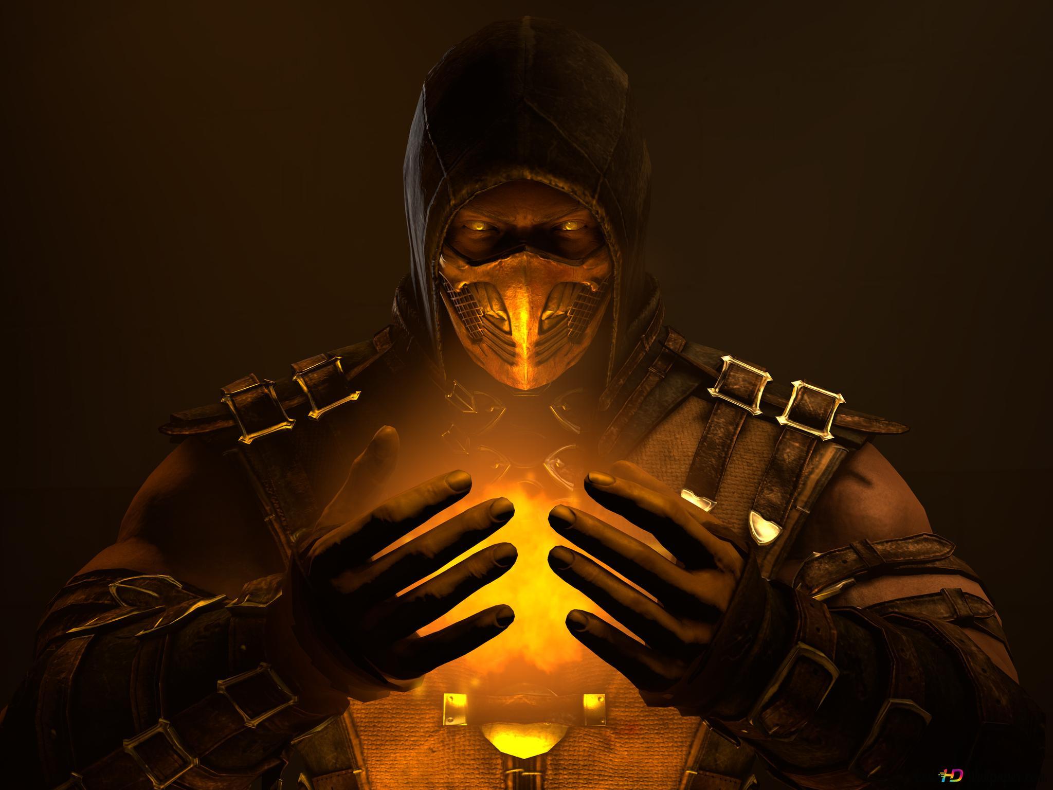 Mortal Kombat X Feel The Power Inside Scorpion Hd Wallpaper