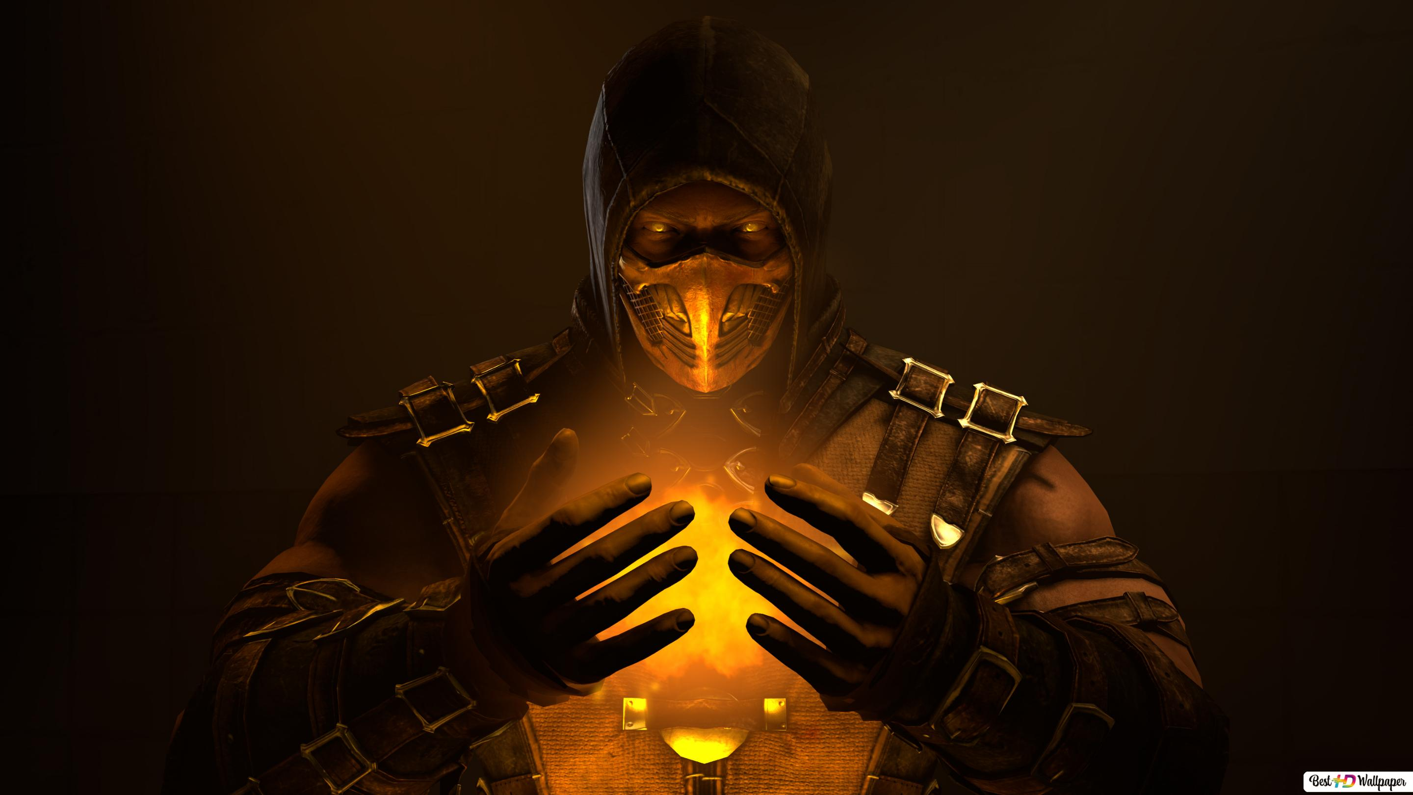Mortal Kombat X Feel The Power Inside Scorpion Hd Wallpaper