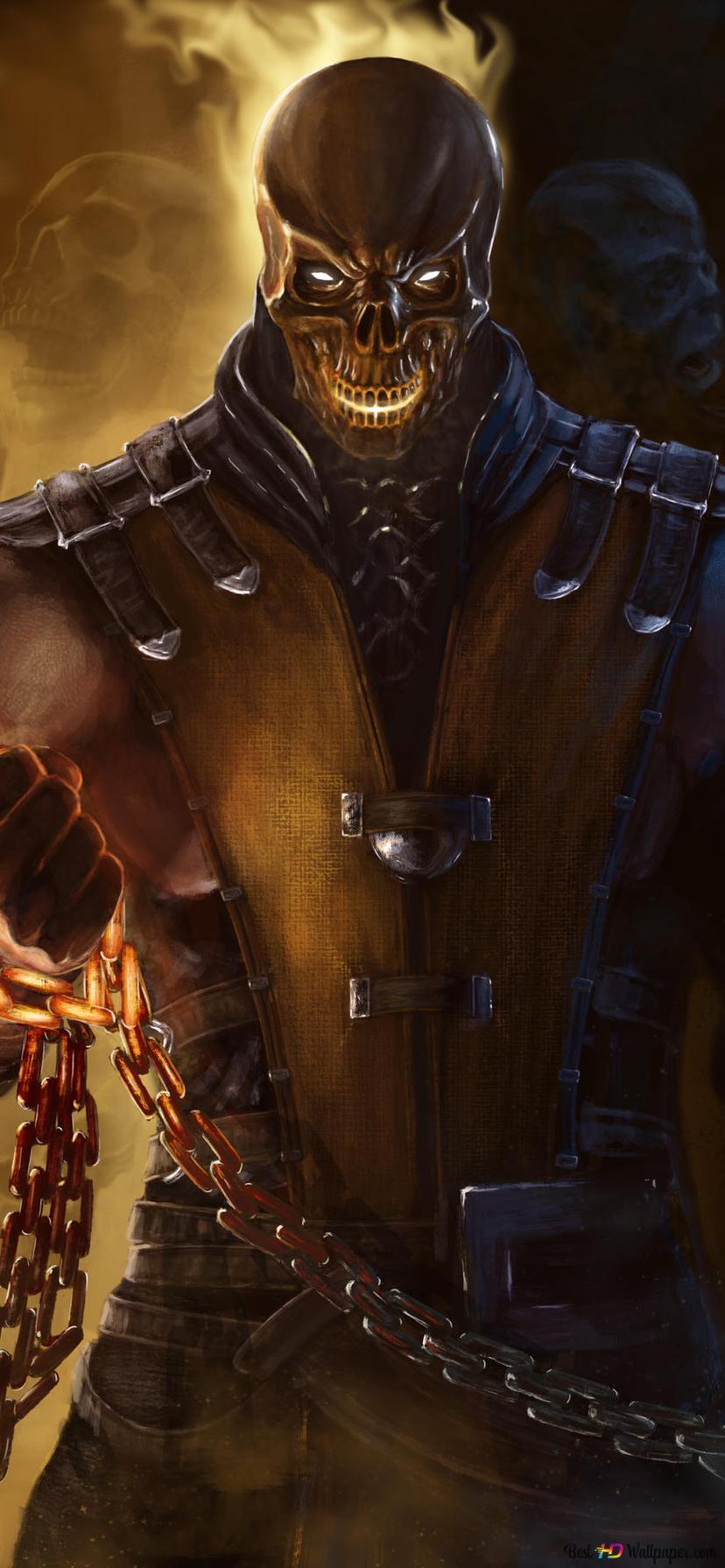 Mortal Kombat X Scorpion Fanart Hd Hintergrundbilder