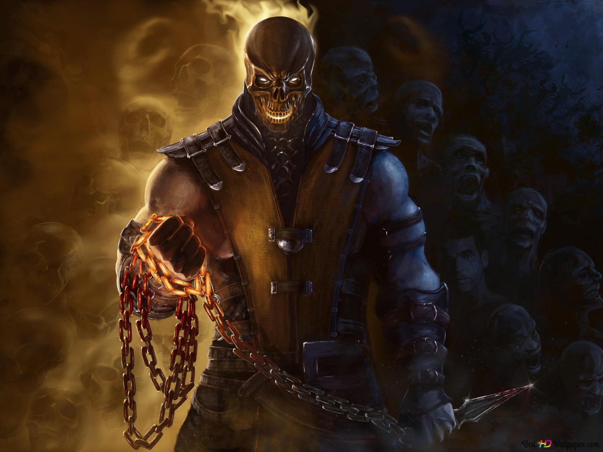 Mortal Kombat X Scorpion Fanart Hd Wallpaper Download