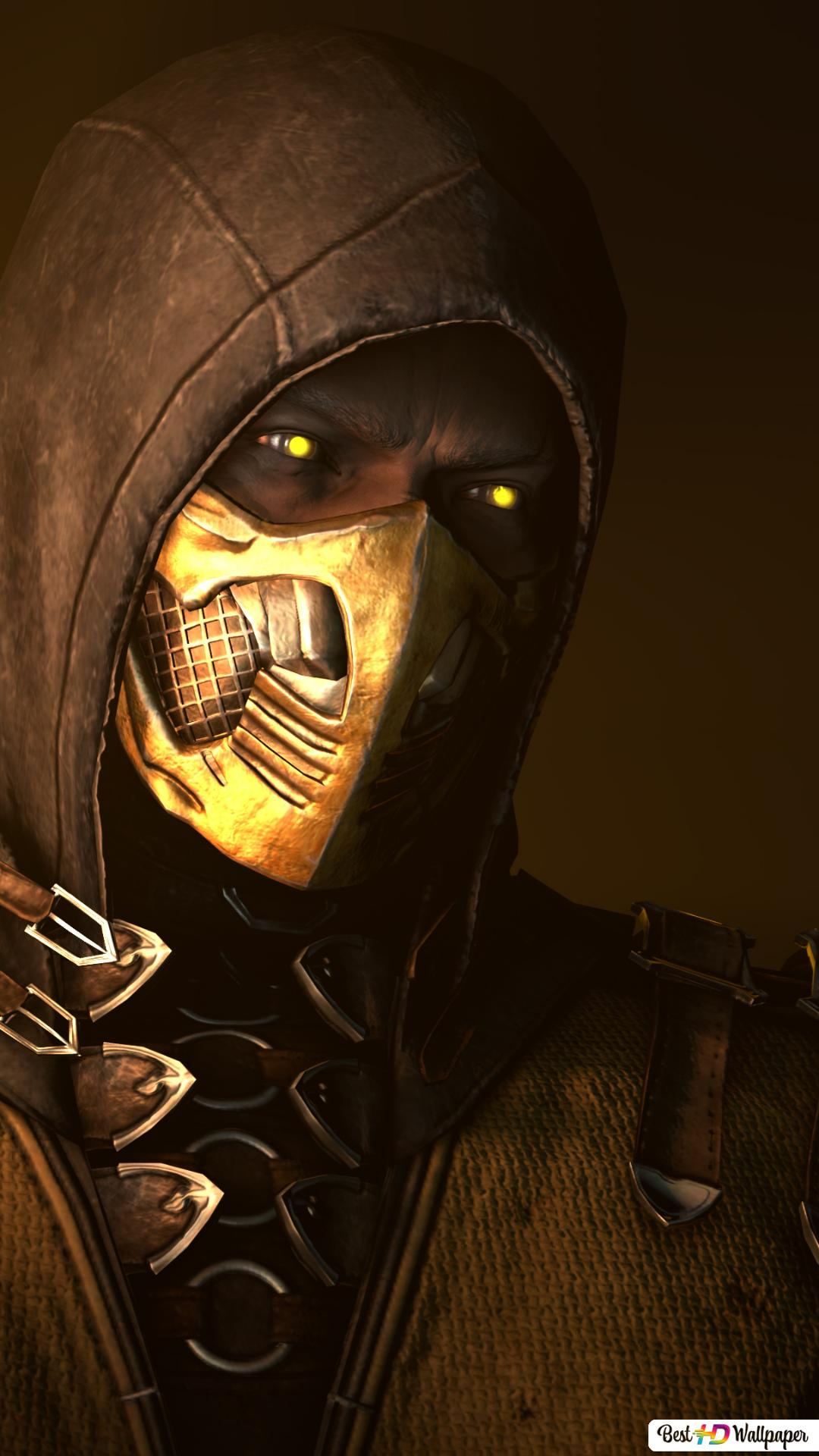 mortal kombat x scorpion fighter wallpaper 1080x1920 20588 165