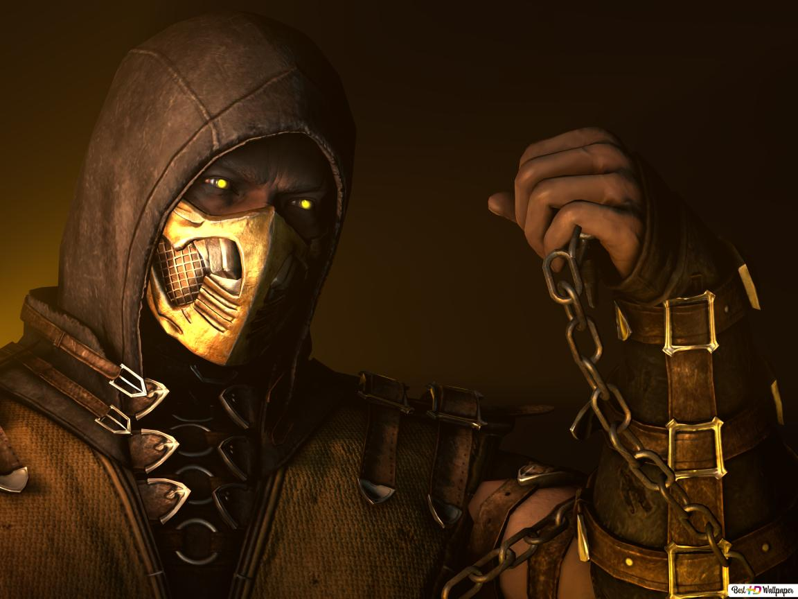 Mortal Kombat X Scorpion Fighter Hd Wallpaper Download