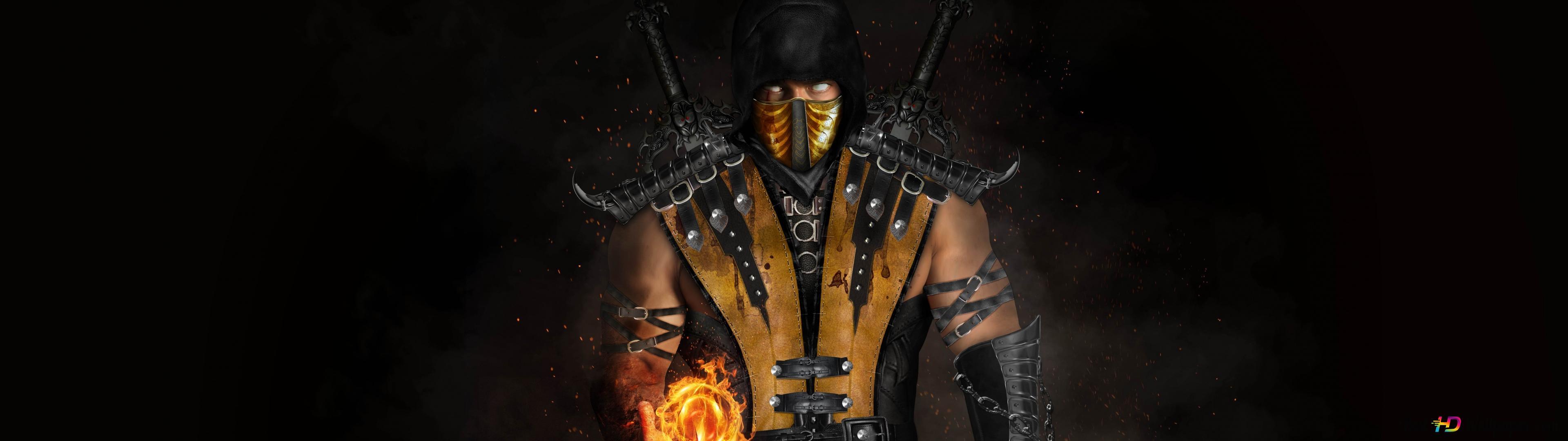 Mortal kombat x - scorpion HD wallpaper