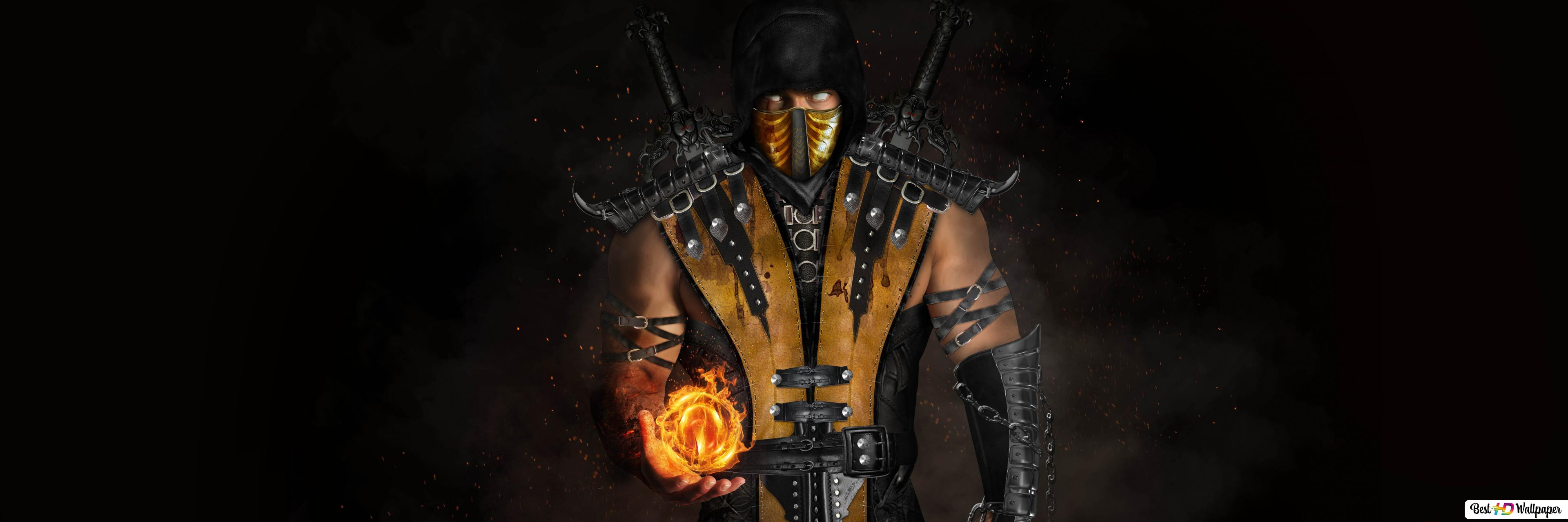 Mortal Kombat X Scorpion Hd Wallpaper Download