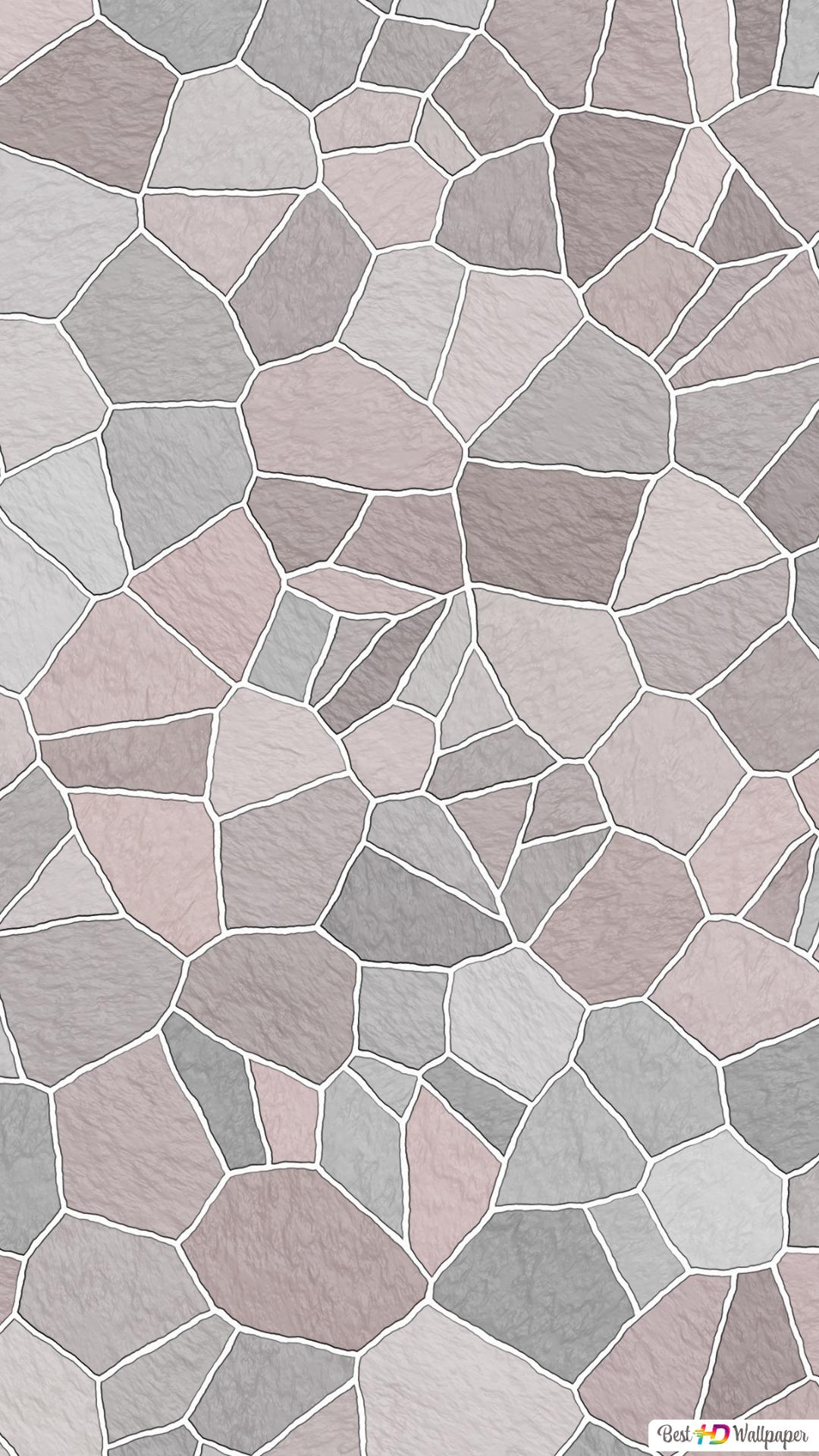 Mosaic Pattern Pink Pastel Hd Wallpaper Download
