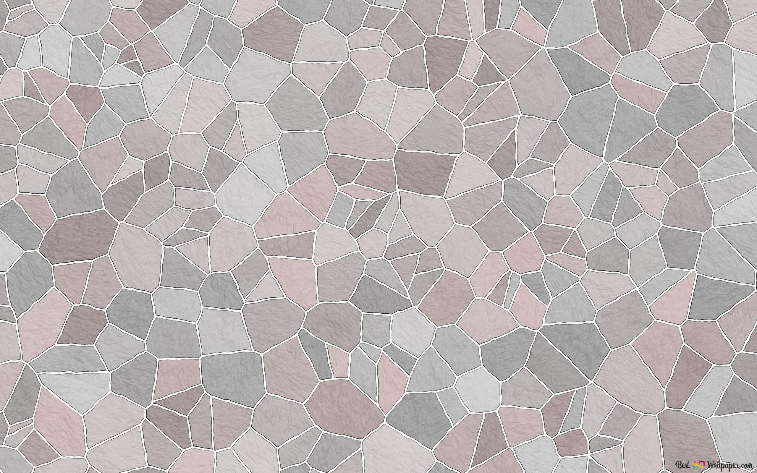 Mosaic Pattern Pink Pastel Hd Wallpaper Download