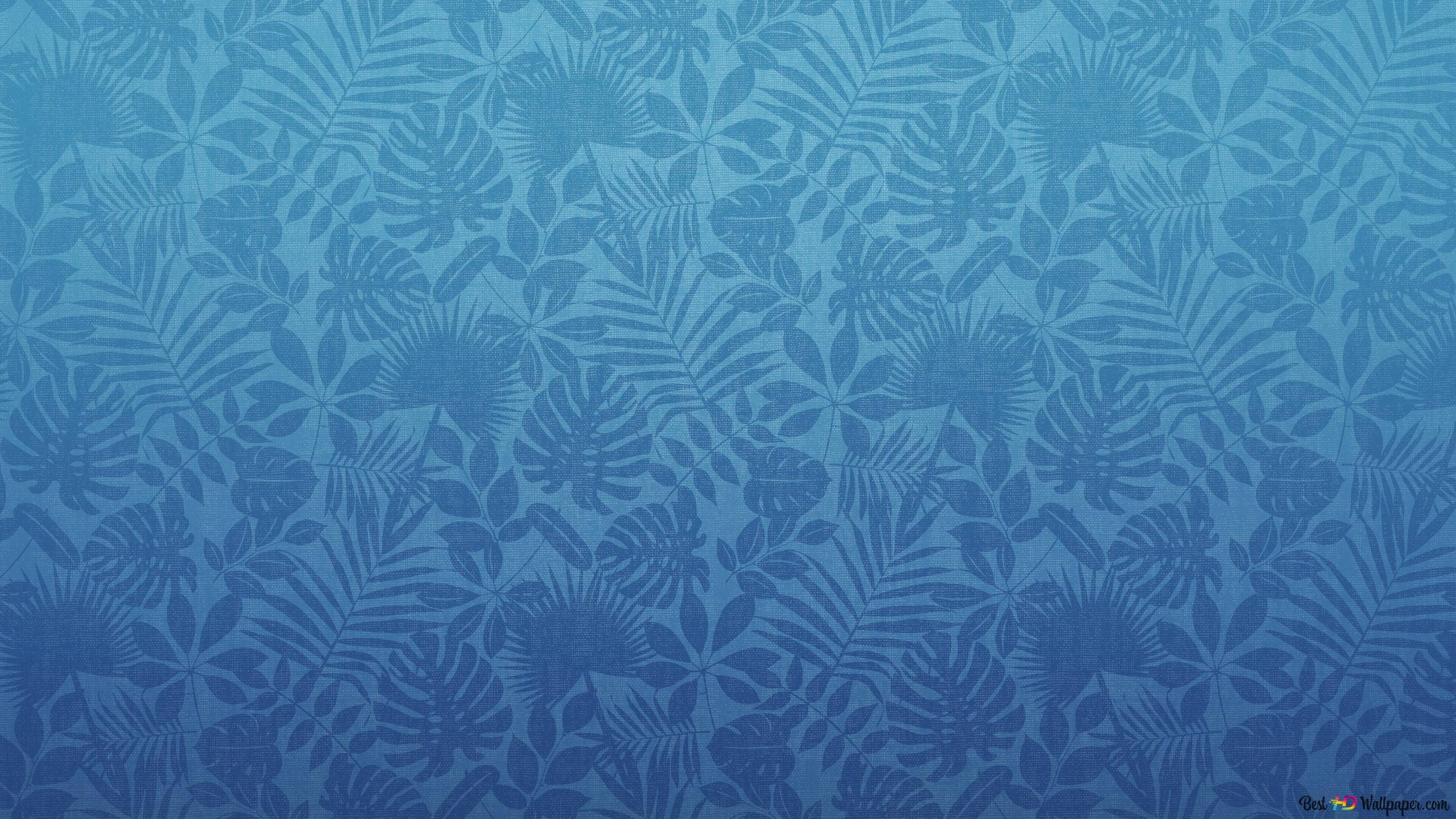 Motif De Feuille Bleu Foncé Sur Fond Bleu Dégradé Hd Fond D