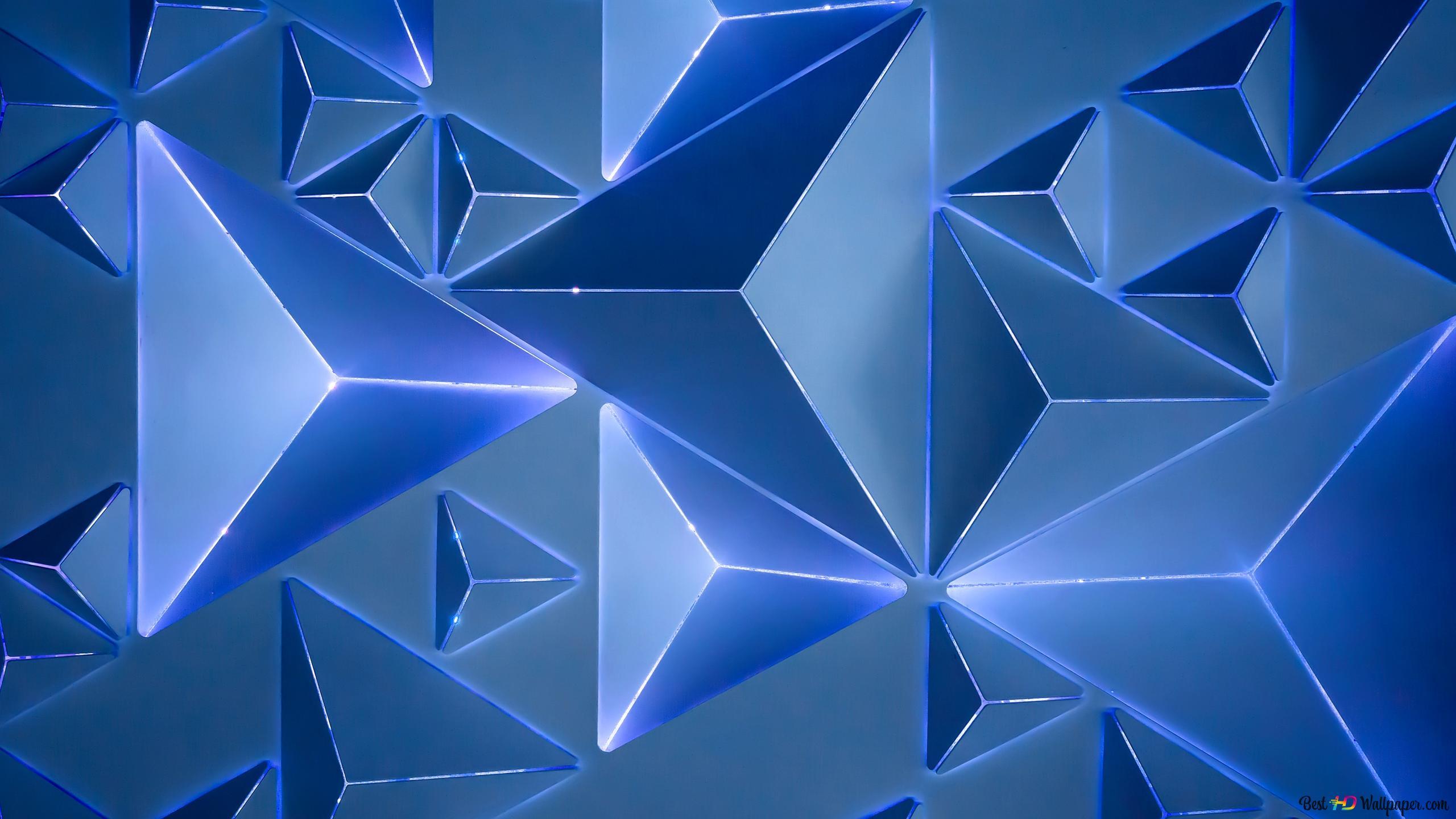 Motif Prisme Bleu Hd Fond Décran Télécharger
