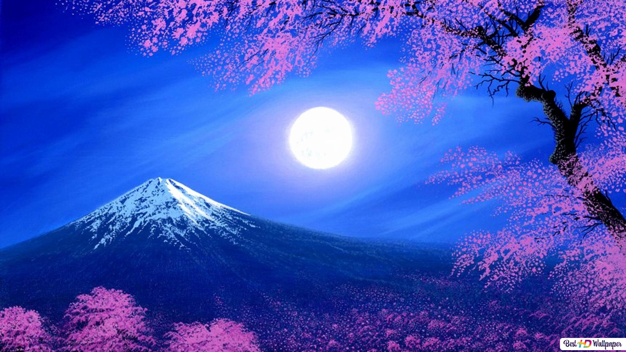 Mount Fuji In Spring Hd Wallpaper Download