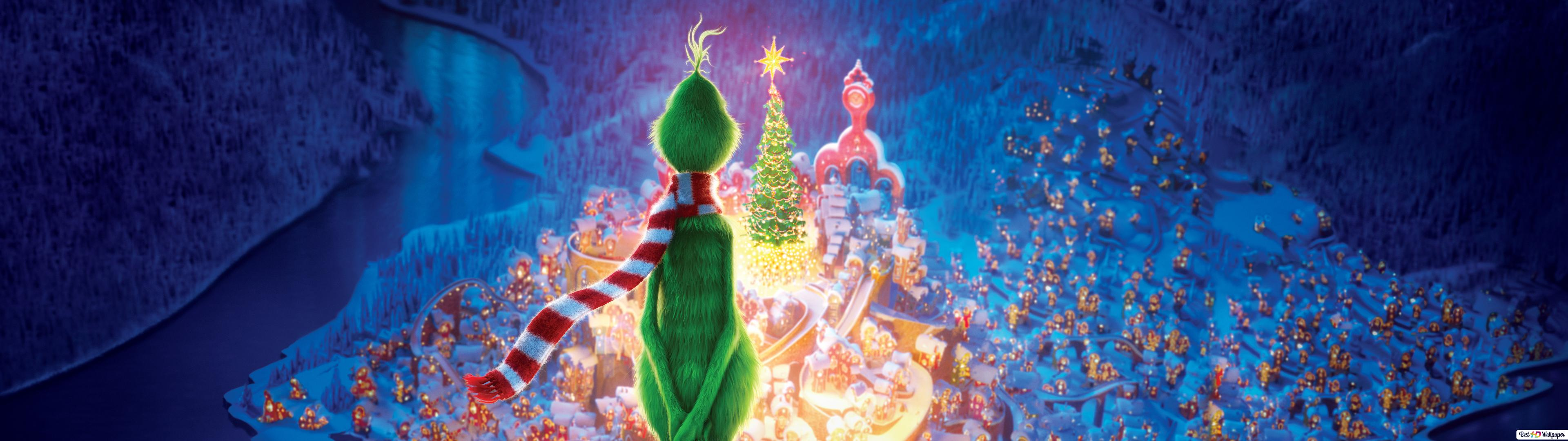 Mr Grinch And Max Celebrating Christmas Hd Wallpaper Download