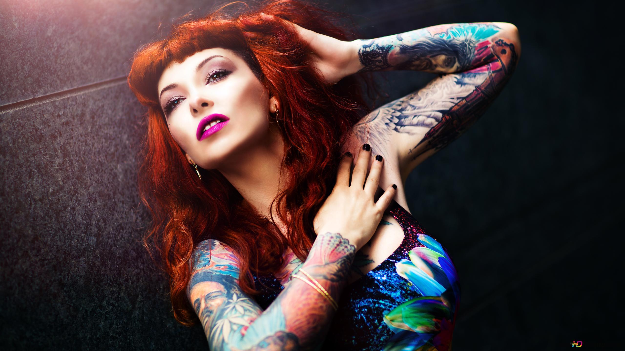 Descargar Fondo De Pantalla Mujer Tatuaje Hd