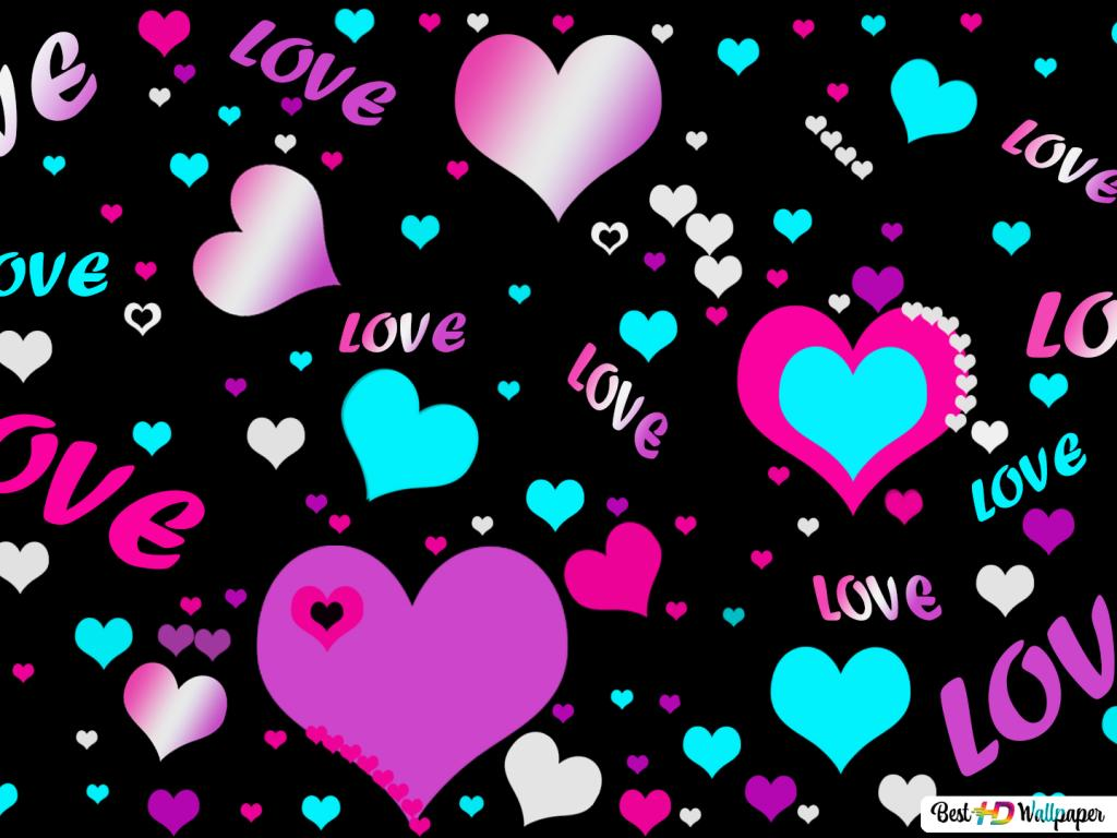 Multicolors hearts n love HD wallpaper ...