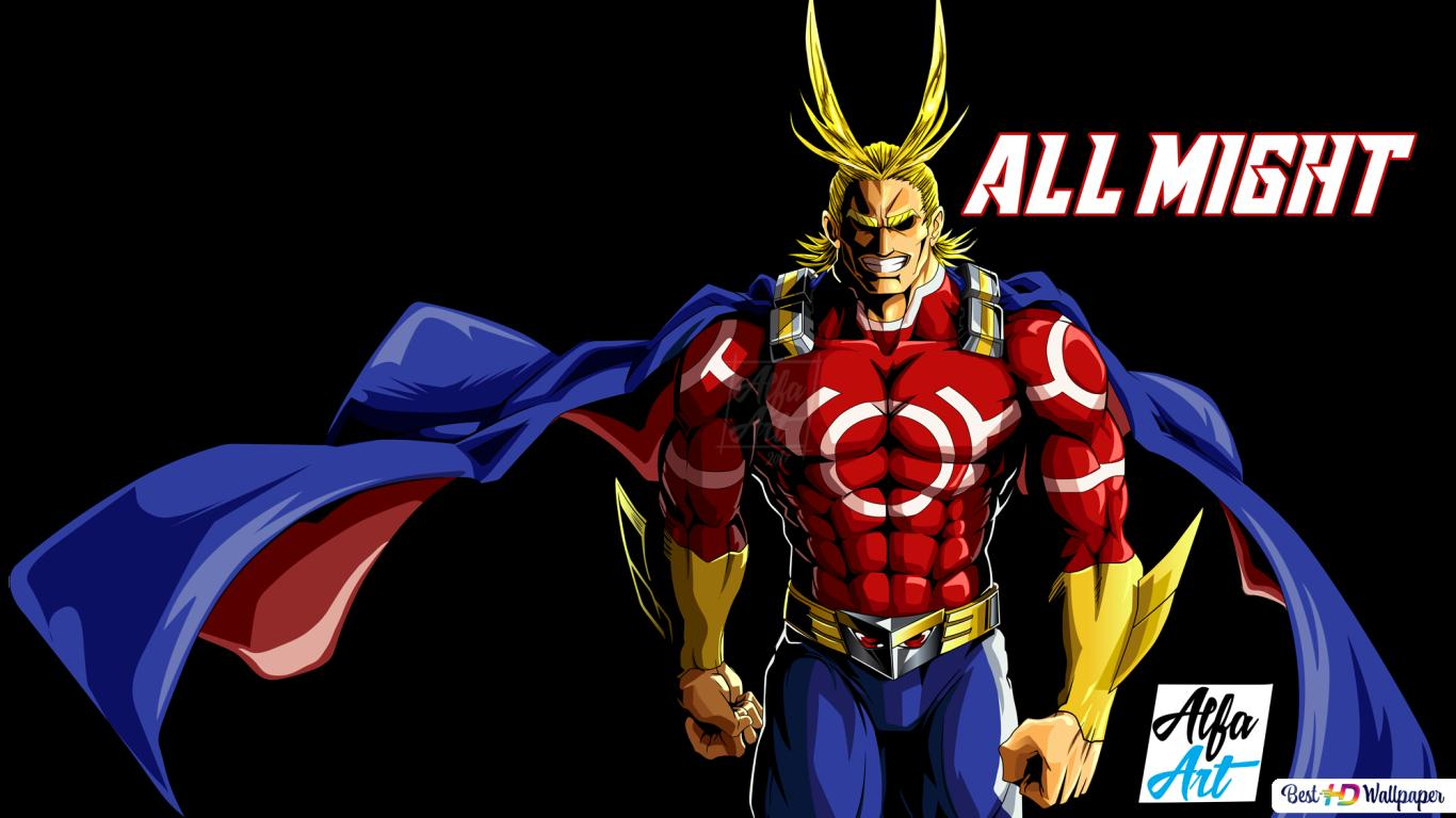 My Hero Academia All Might Alfa Art Hd Wallpaper Download