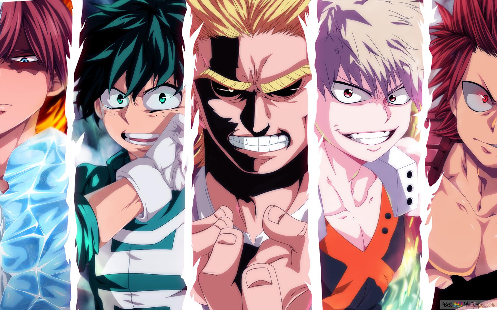 My Hero Academia All Might Katsuki Bakugo Eijiro Kirishima Izuku Midoriya Shoto Todoroki Hd Wallpaper Download 4k deku and todoroki wallpapers. all might katsuki bakugo eijiro