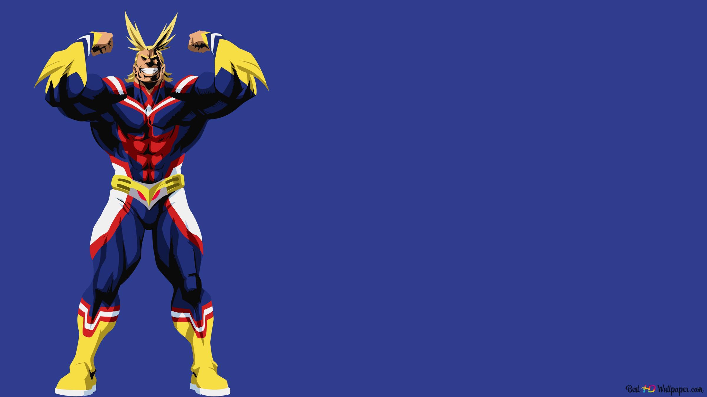 My Hero Academia All Might Minimalist Hd Wallpaper Download
