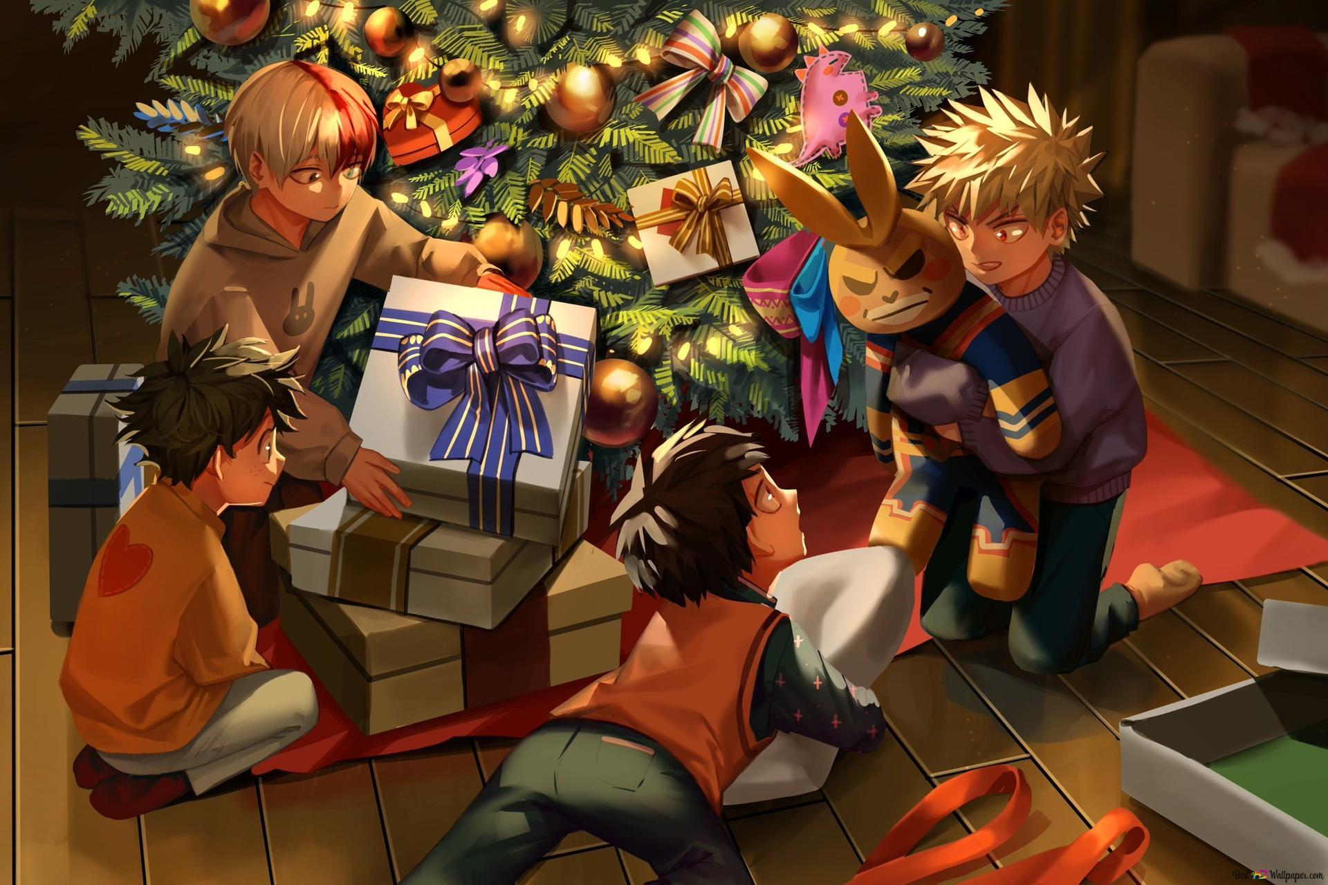 My Hero Academia Christmas Festival Hd Wallpaper Download