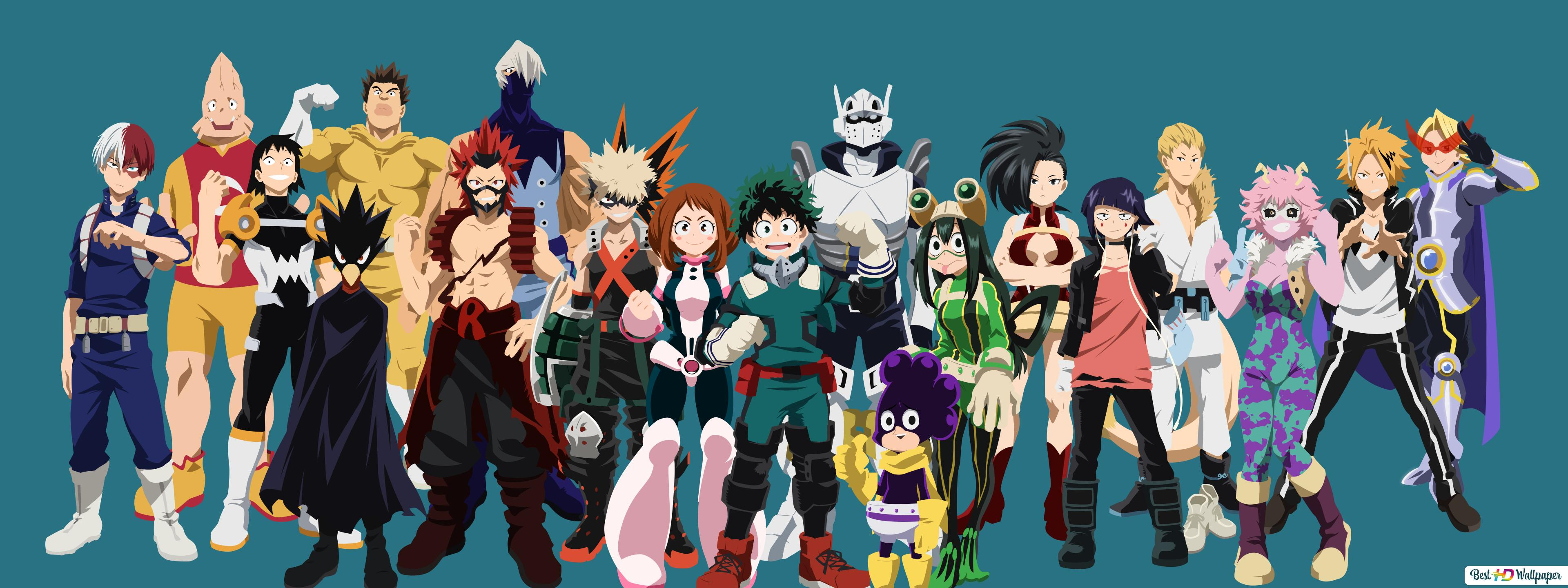 My Hero Academia Class A Hero Costumes Hd Wallpaper Download
