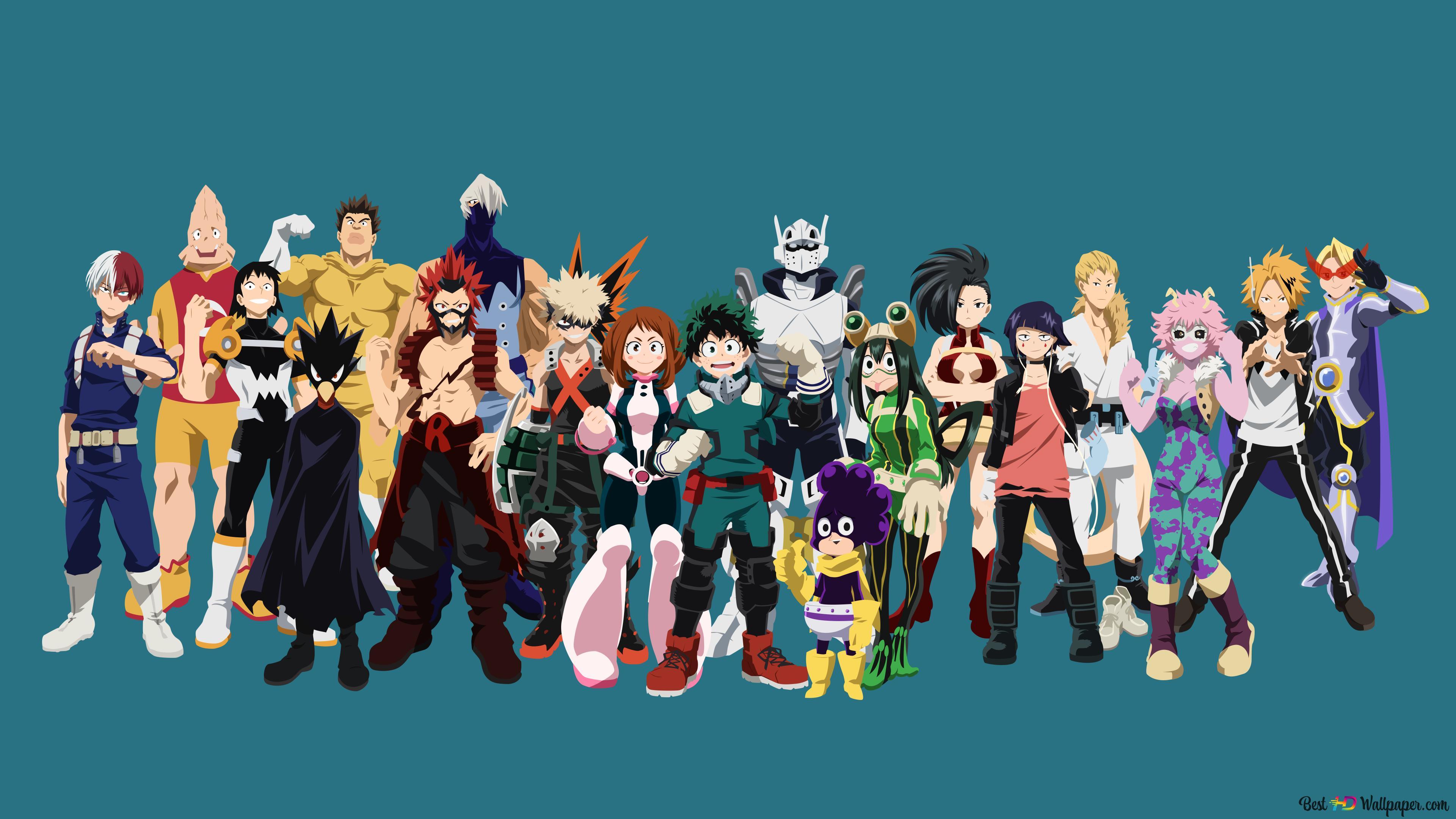 My Hero Academia Class A Hero Costumes Hd Wallpaper Download