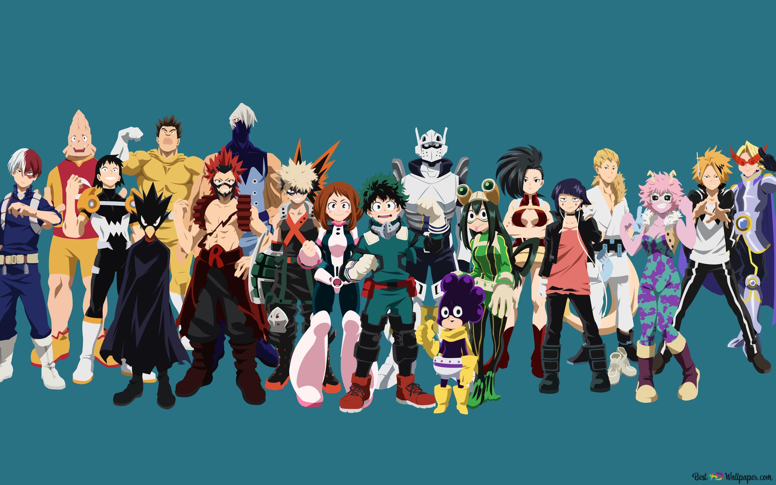 My Hero Academia - classe A (costumes Hero) HD fond d'écran télécharger