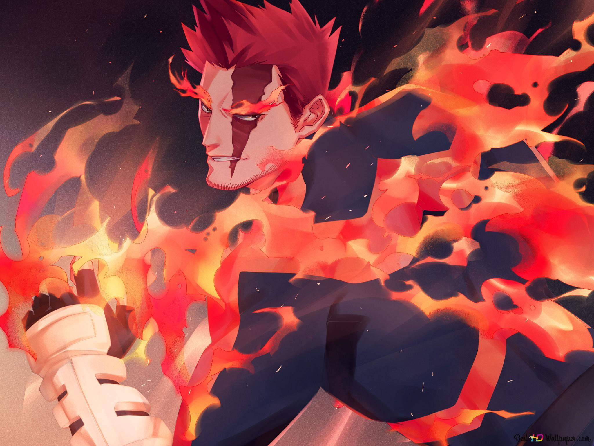 My Hero Academia Enji Todoroki Hd Wallpaper Download
