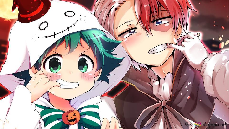 foto de My Hero Academia - Izuku Midoriya & Shoto Todoroki (Halloween) HD ...
