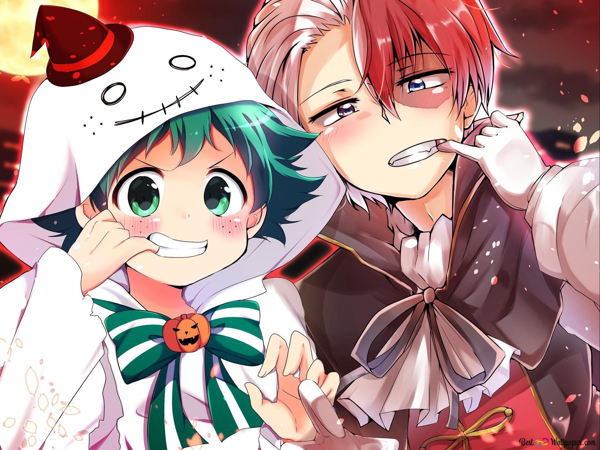 My Hero Academia Izuku Midoriya Shoto Todoroki Halloween Hd