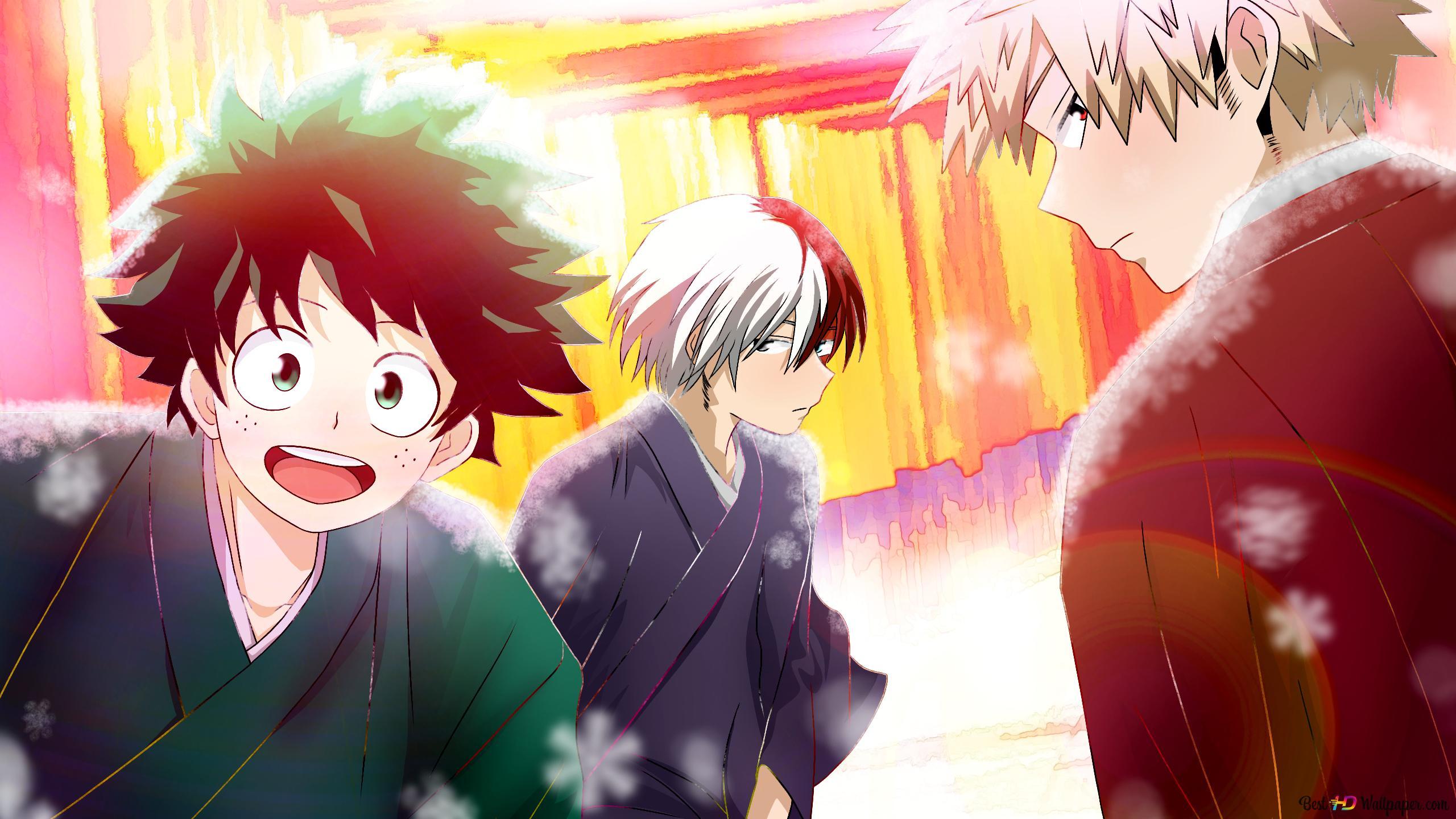 My Hero Academia Izuku Midoriya Shoto Todoroki Katsuki Bakugo