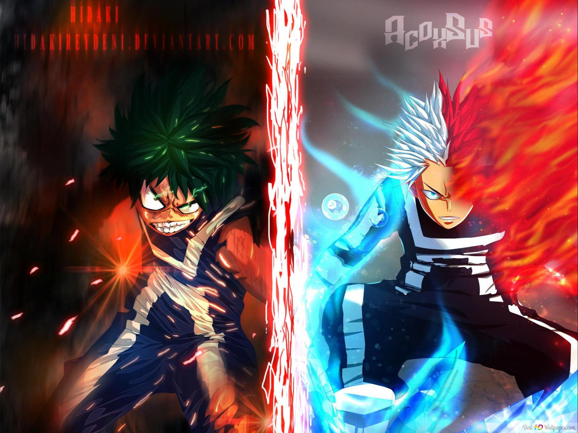 My Hero Academia Izuku Midoriya Shoto Todoroki Hd Wallpaper