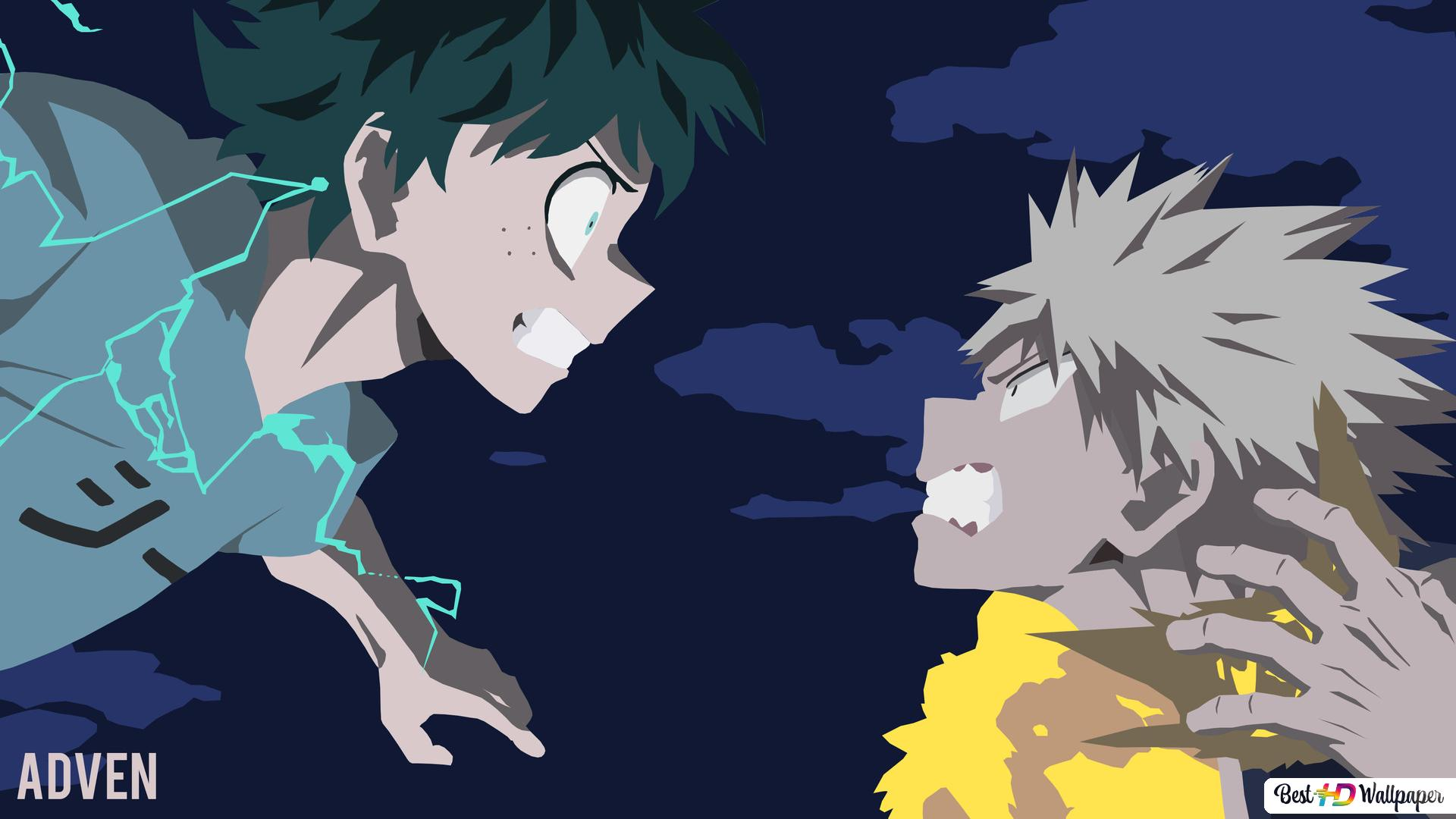 My Hero Academia Izuku Midoriya Vs Katsuki Bakugo Hd Wallpaper