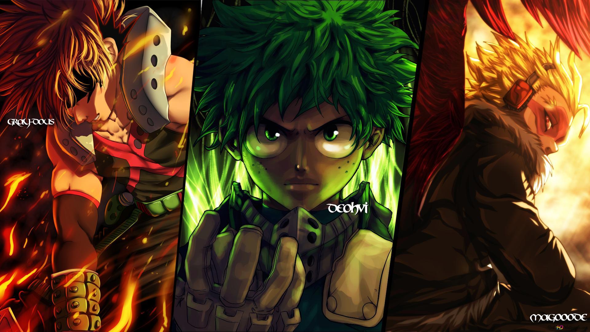 My Hero Academia Katsuki Bakugo Izuku Midoriya Hawks Hd