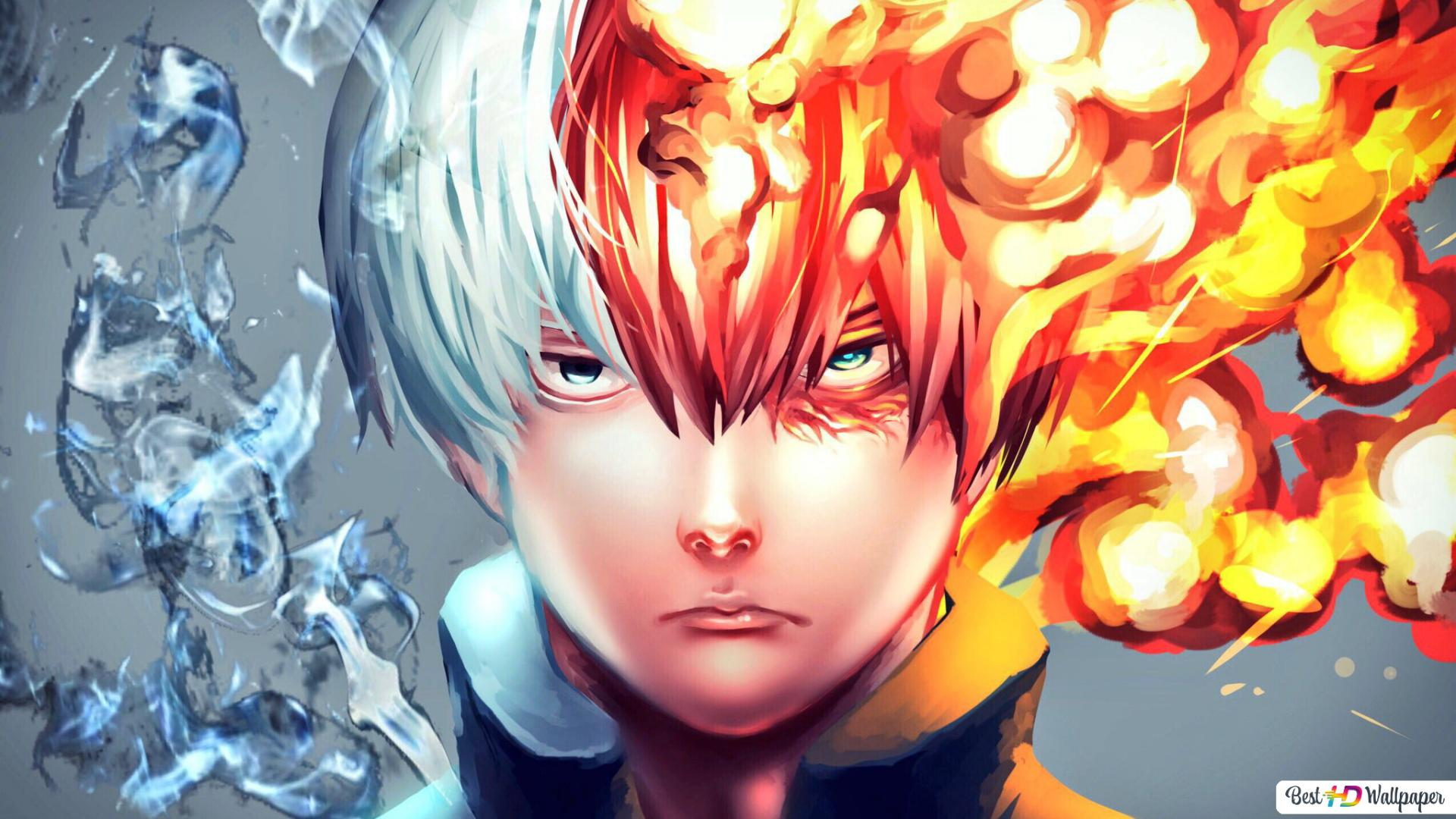 My Hero Academia Shoto Todoroki Ice Fire Hd Wallpaper Download
