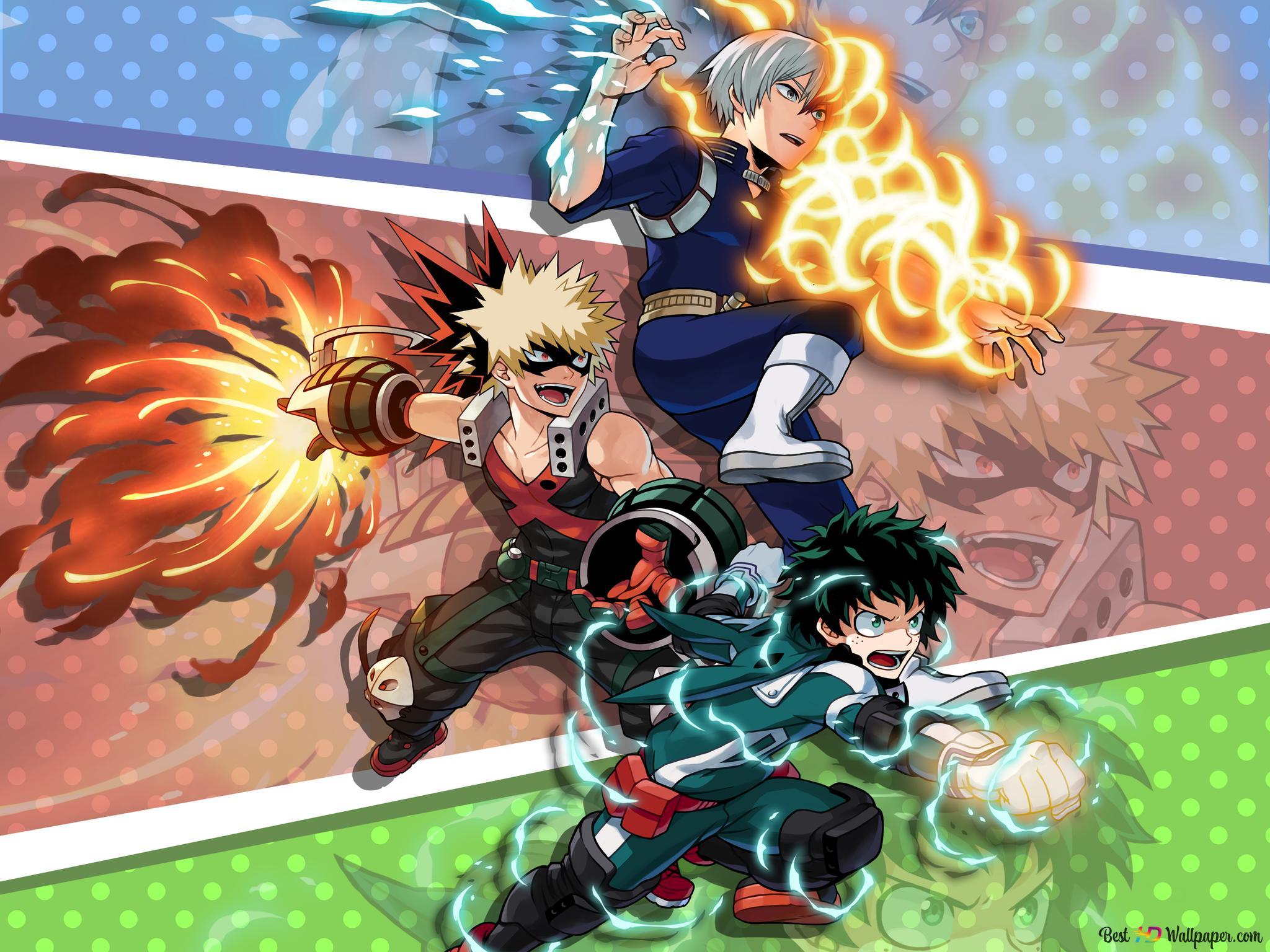 My Hero Academia Shoto Todoroki Katsuki Bakugo Izuku Midoriya