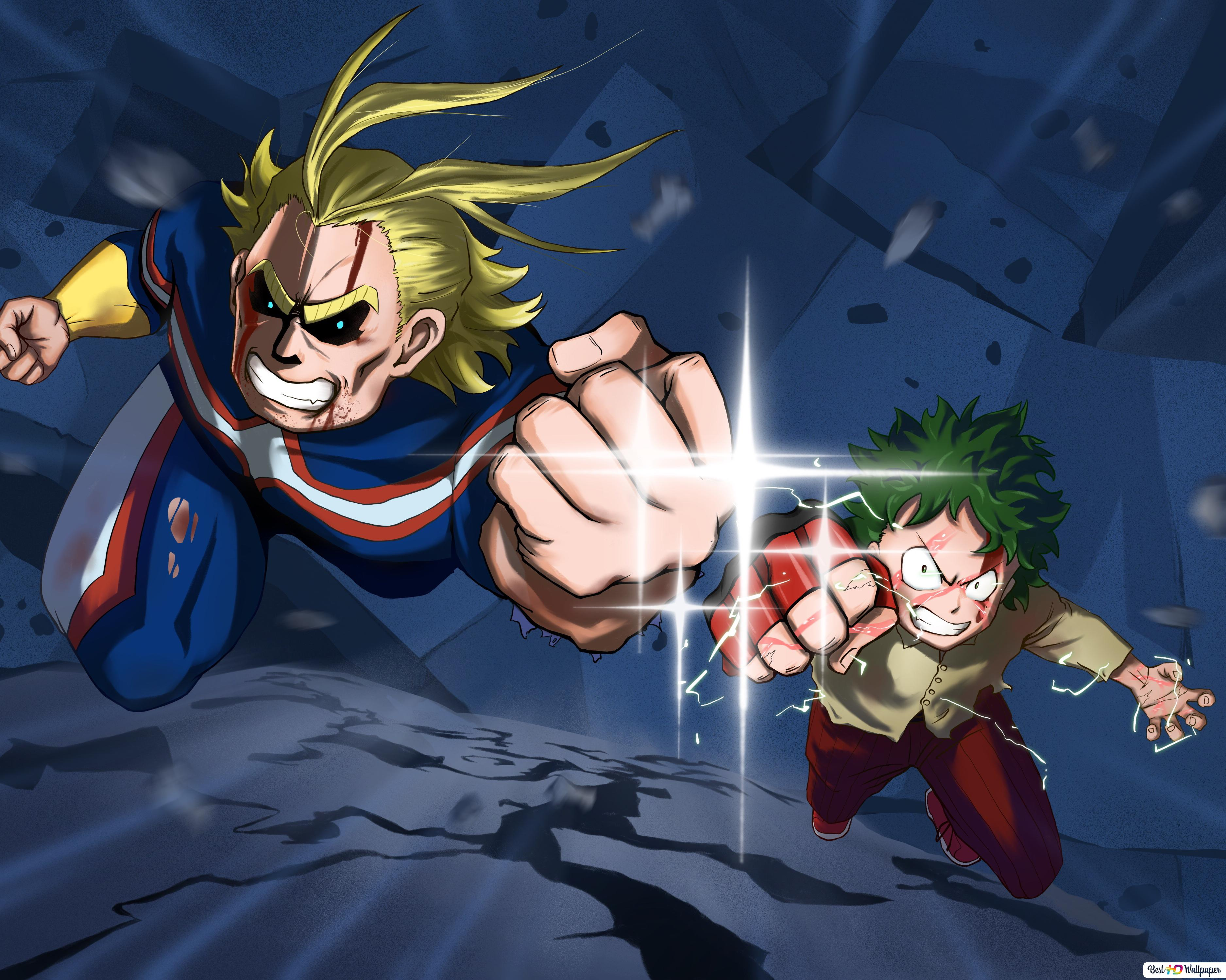 My Hero Academia Two Heroes All Might Izuku Midoriya Hd
