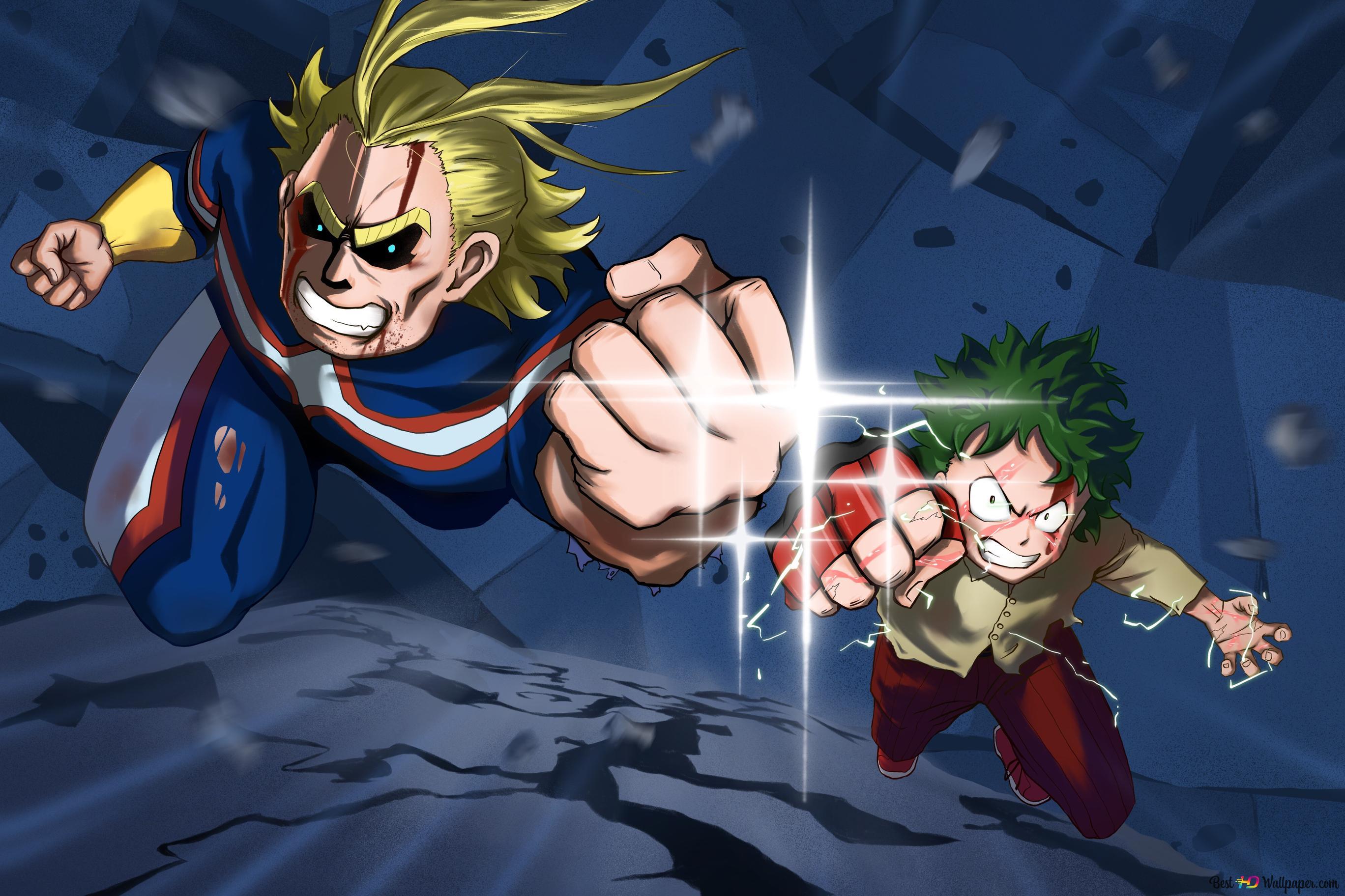 My Hero Academia Zwei Helden Alle Might Izuku Midoriya
