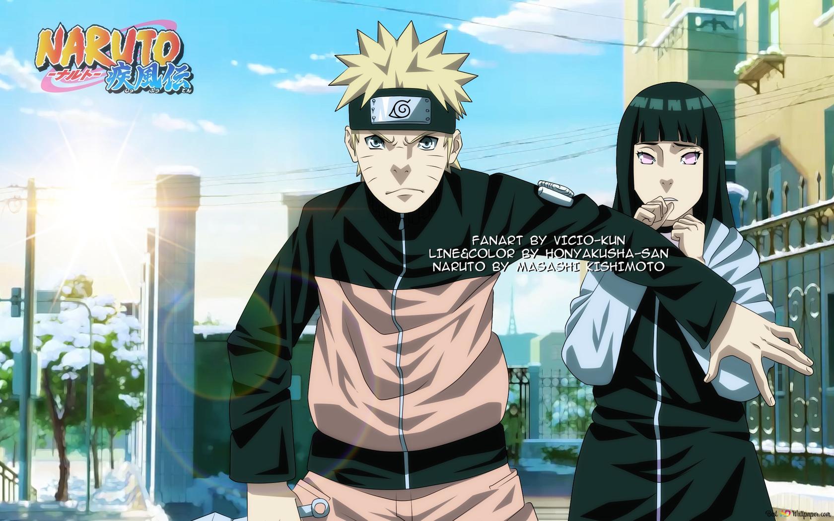 Naruto Hinata On The Mission Unduhan Wallpaper Hd