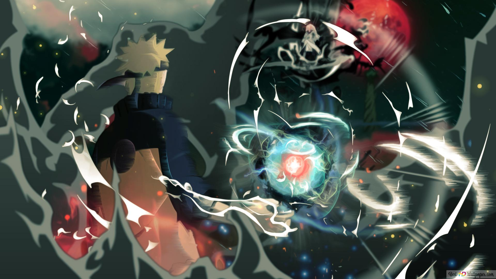 Naruto ナルト 疾風伝 うずまきナルト対マダラサスケ Hd壁紙の