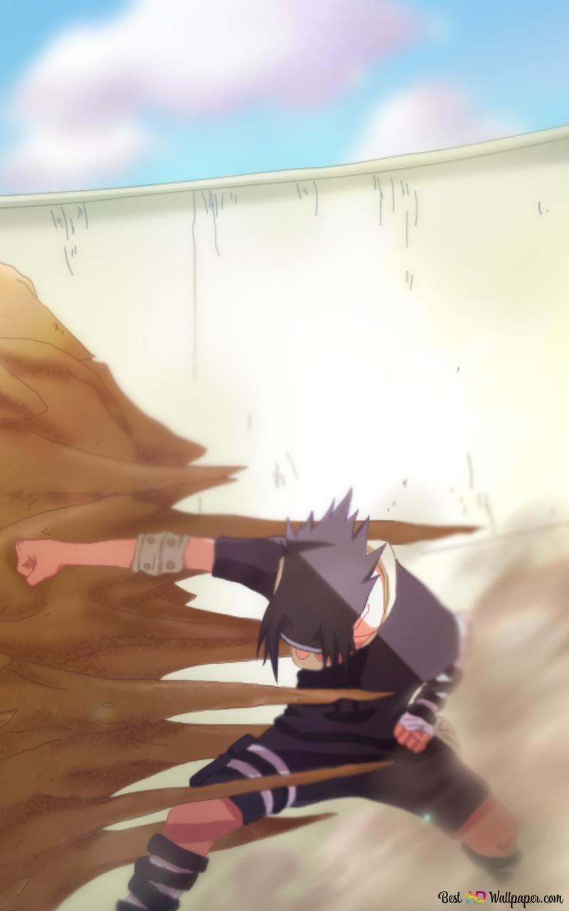 Naruto sasuke uchiha vs gaara hd fond d'écran télécharger.