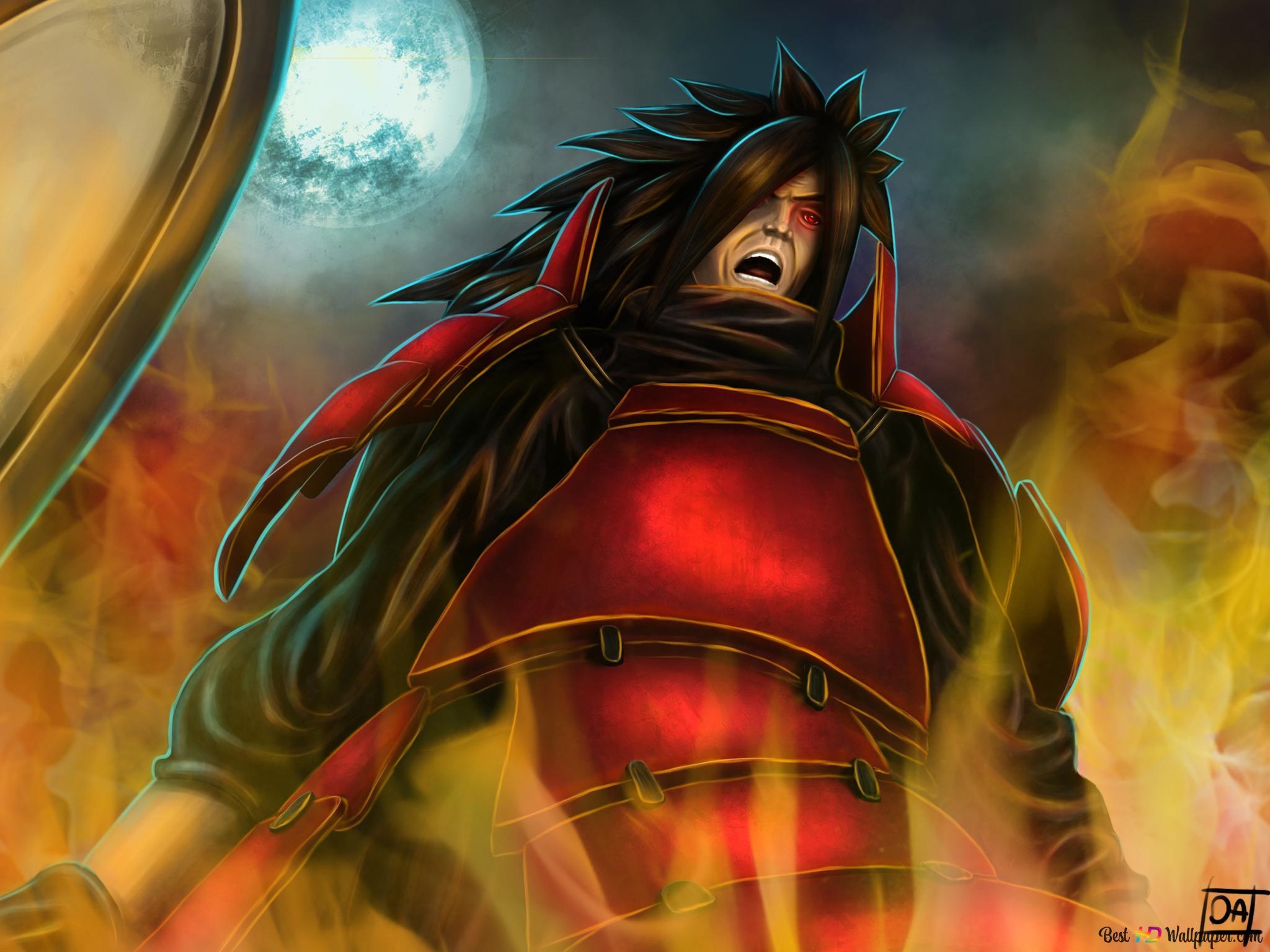 Naruto Shippuden Madara Uchiha Pemimpin Legendaris Dari Uchiha Clan Unduhan Wallpaper Hd
