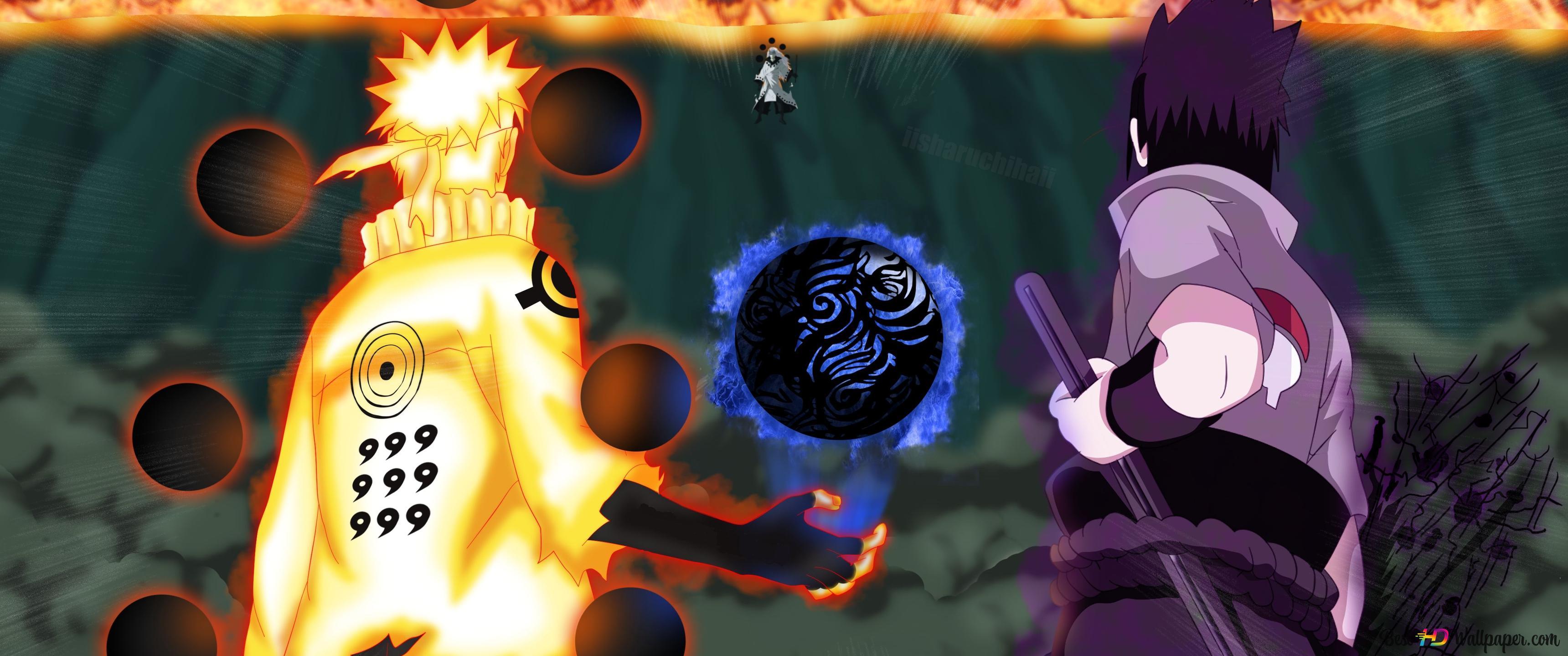 Naruto Shippuden Naruto Uzumaki Bijuu Modus Sasuke