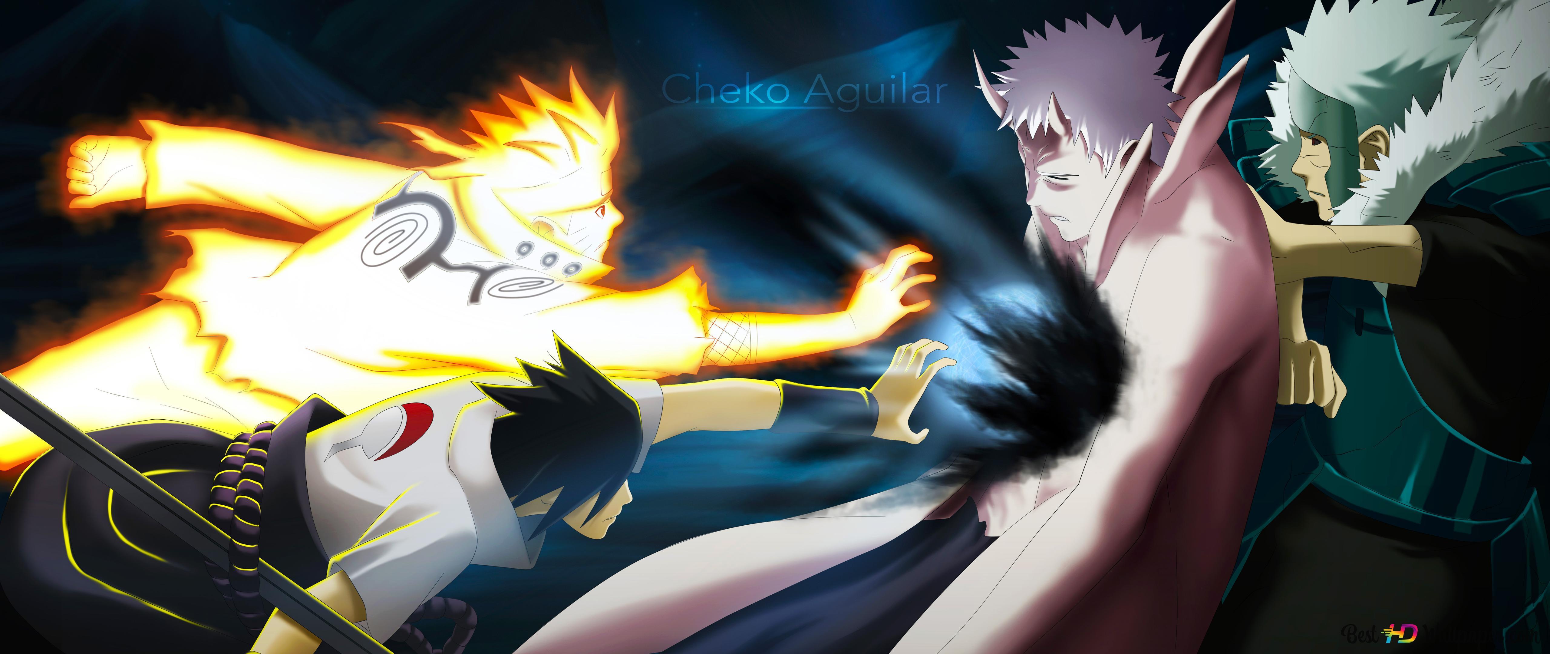 Naruto Shippuden Naruto Uzumaki Sasuke Uchiha Obito Uchiha Tobirama Senju Hd Wallpaper Download
