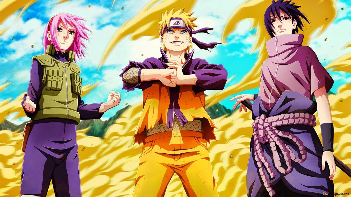 Naruto Shippuden - Naruto Uzumaki,Sasuke Uchiha,Sakura Haruno HD wallpaper download