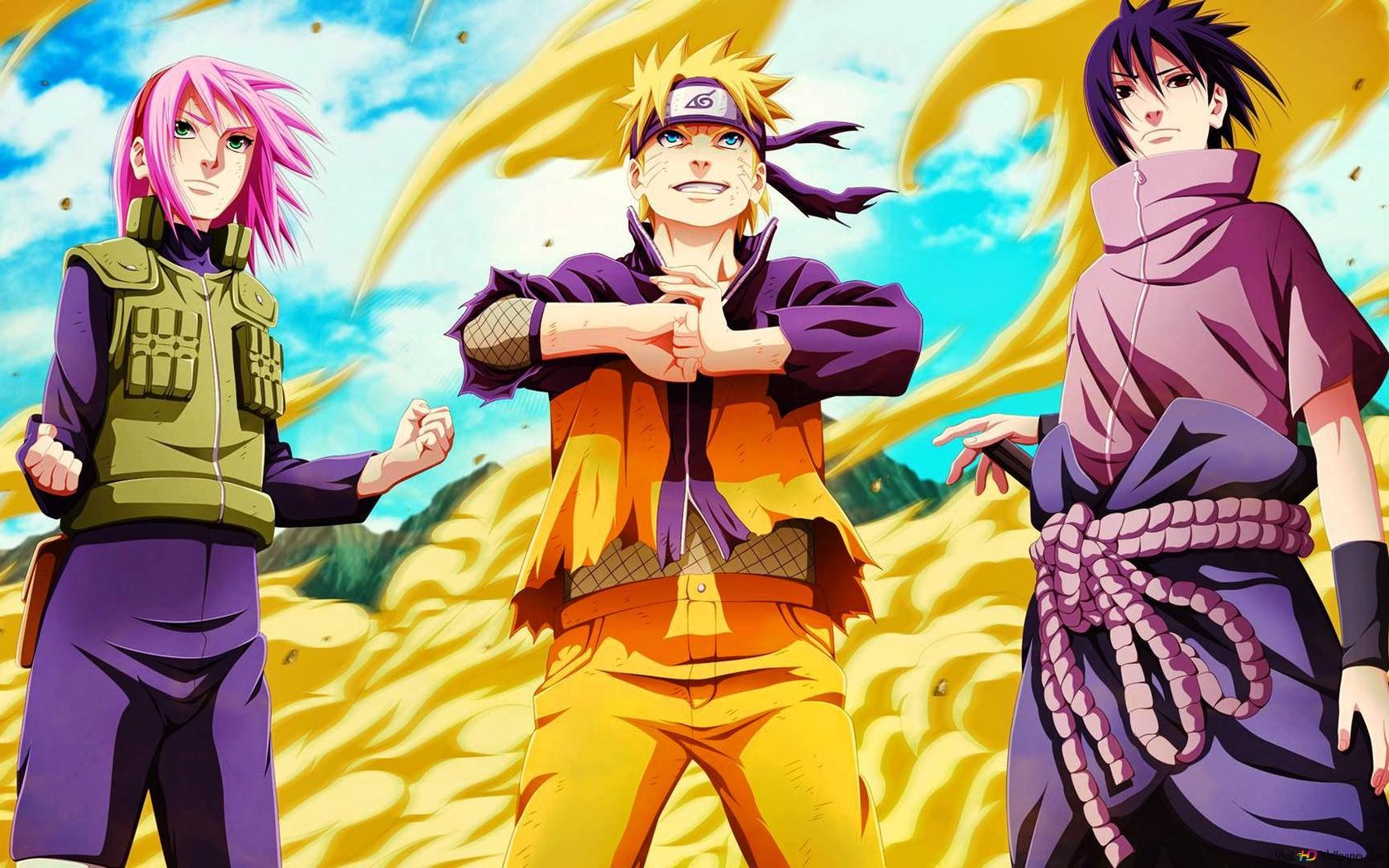 Naruto Shippuden Naruto Uzumaki Sasuke Uchiha Sakura Haruno Hd