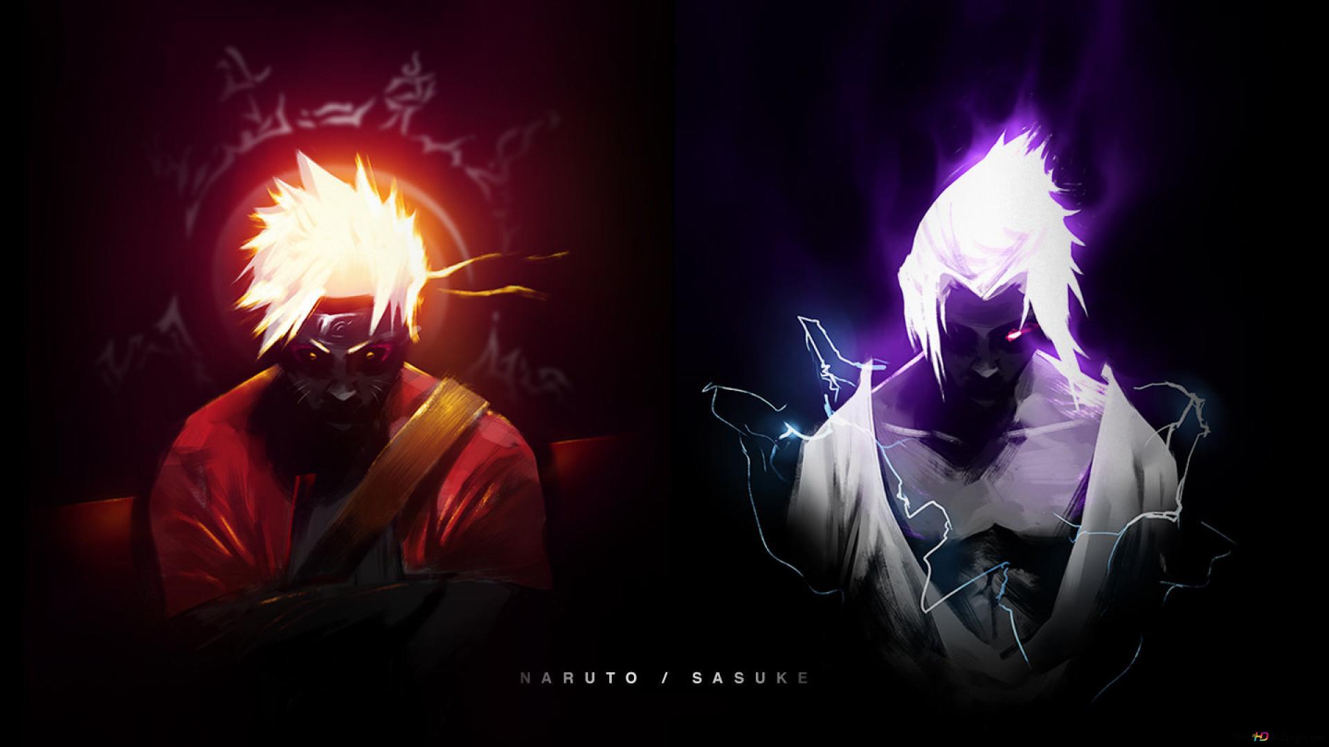 Naruto Shippuden Naruto Uzumaki Sasuke Uchiha Hd Wallpaper Download
