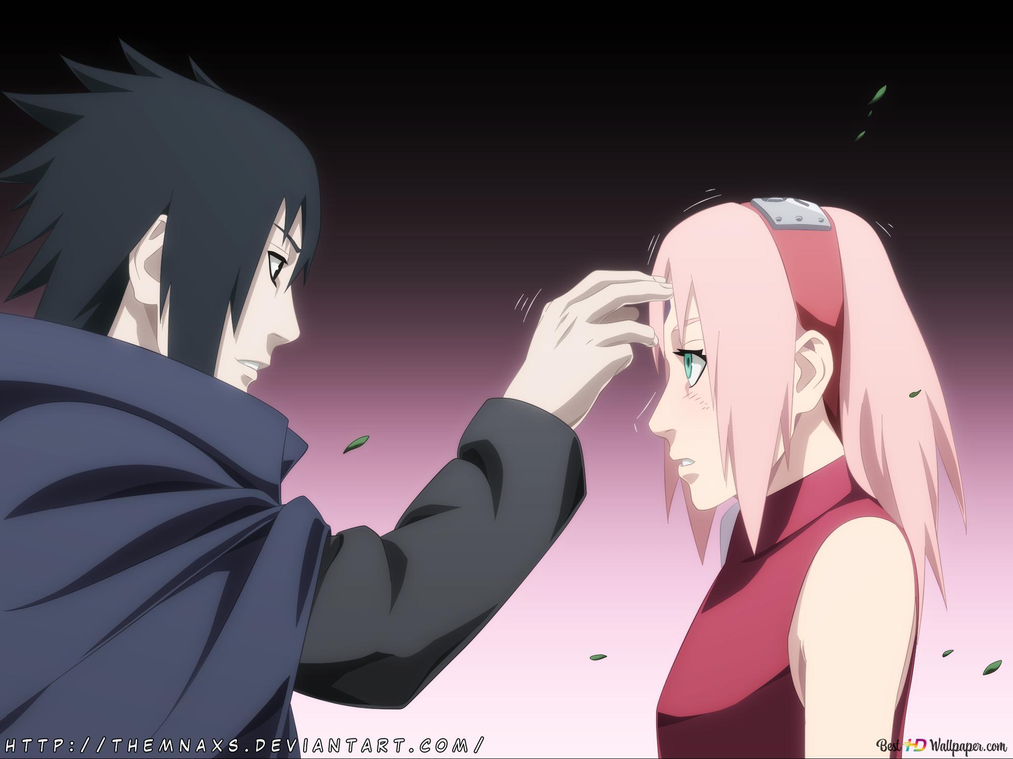 Naruto Shippuden Sakura Haruno Sasuke Uchiha Hd Wallpaper Download