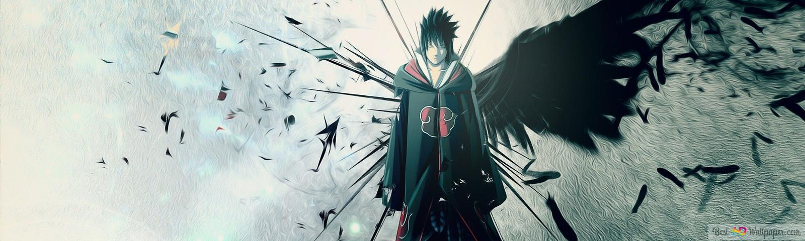 naruto shippuden sasuke uchiha akatsuki wallpaper 1600x480 8010 68