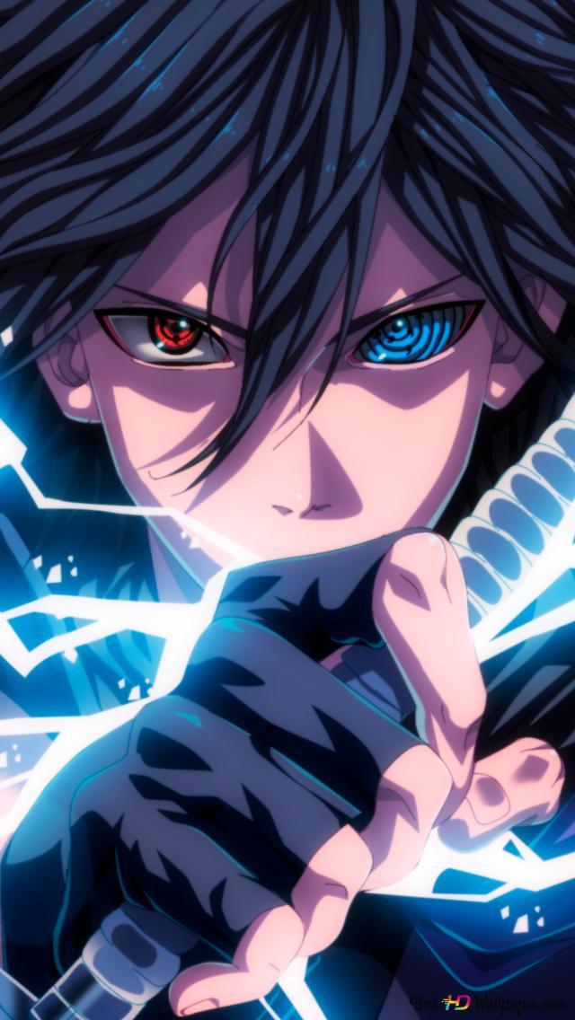 Naruto Shippuden Sasuke Uchiha Mangekyo Sharingan Rinnegan Lightning Style Jutsu Hd Wallpaper Download
